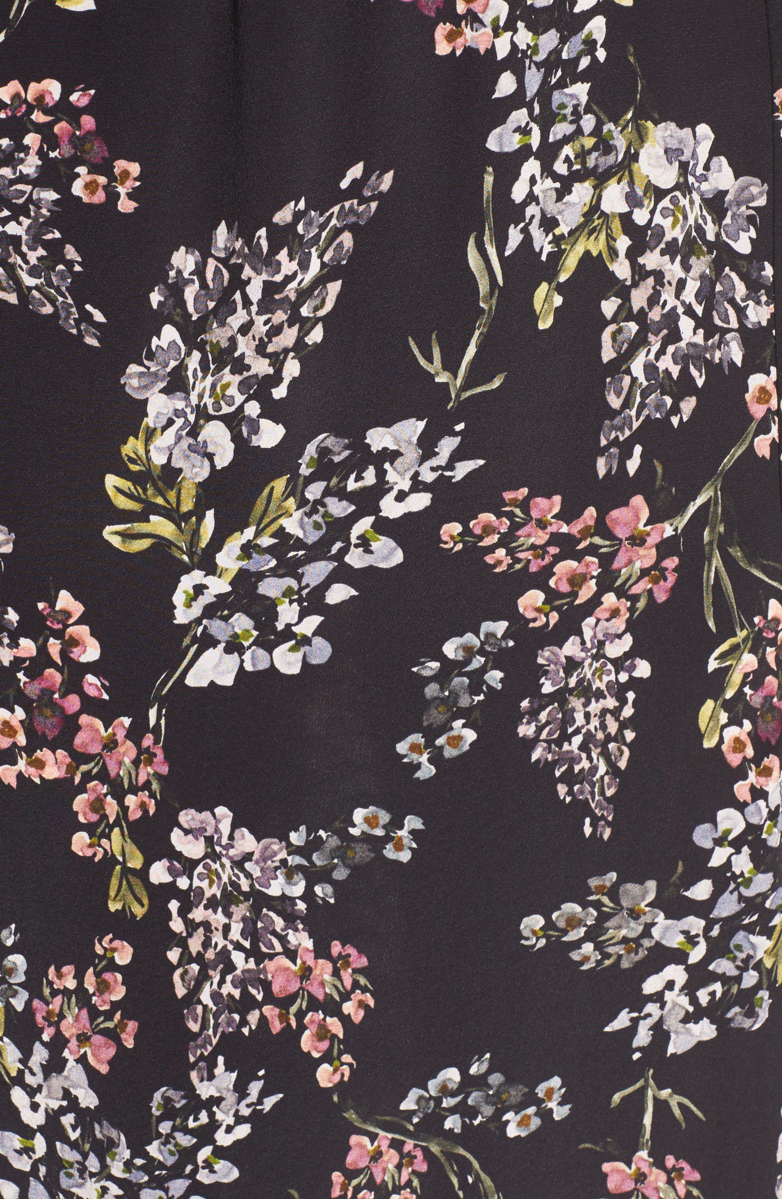 Nicholson Off the Shoulder Dress,                             Alternate thumbnail 5, color,                             Black Autumn