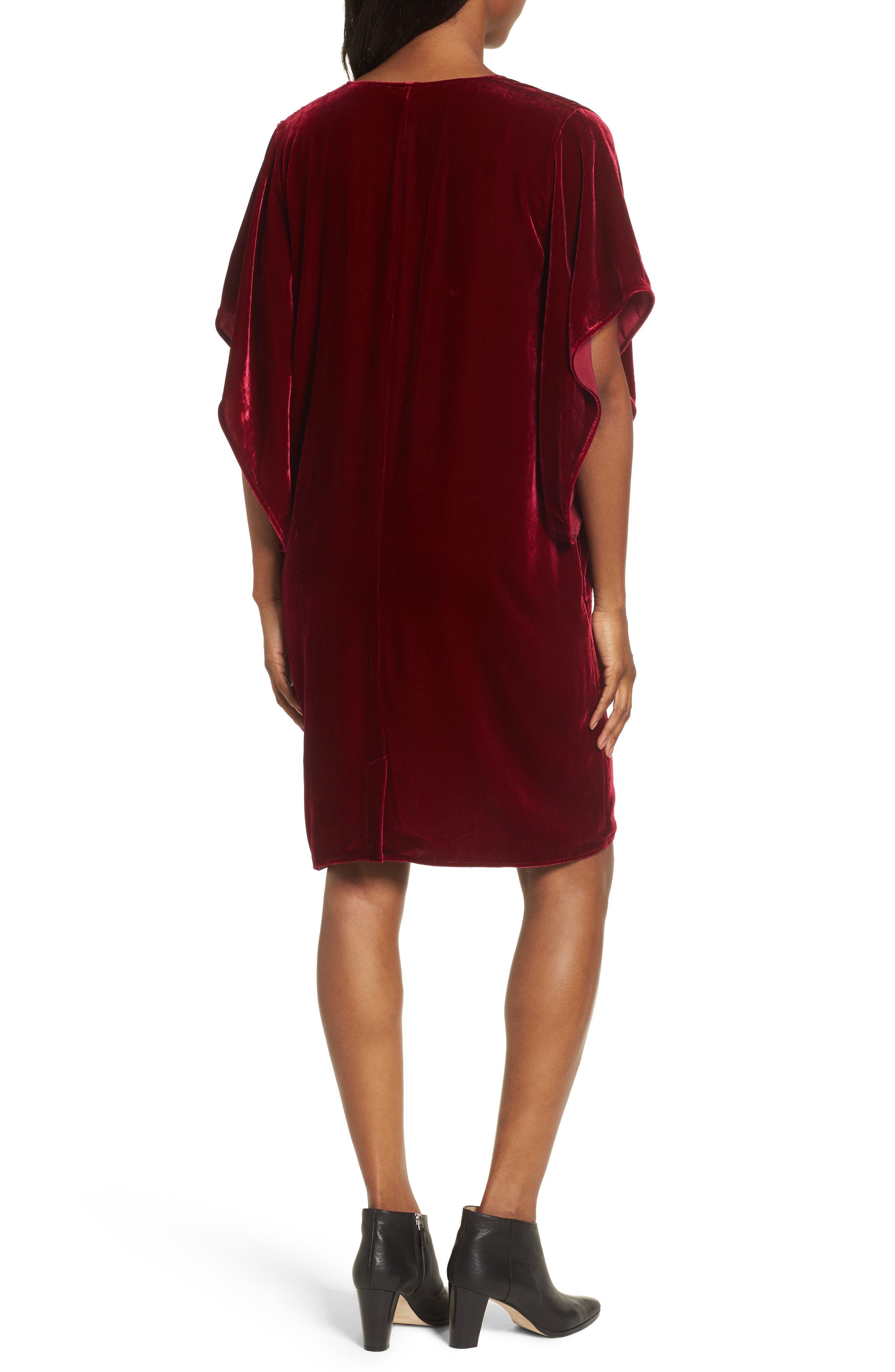 Alternate Image 2  - Eileen Fisher V-Neck Velvet Kimono Dress