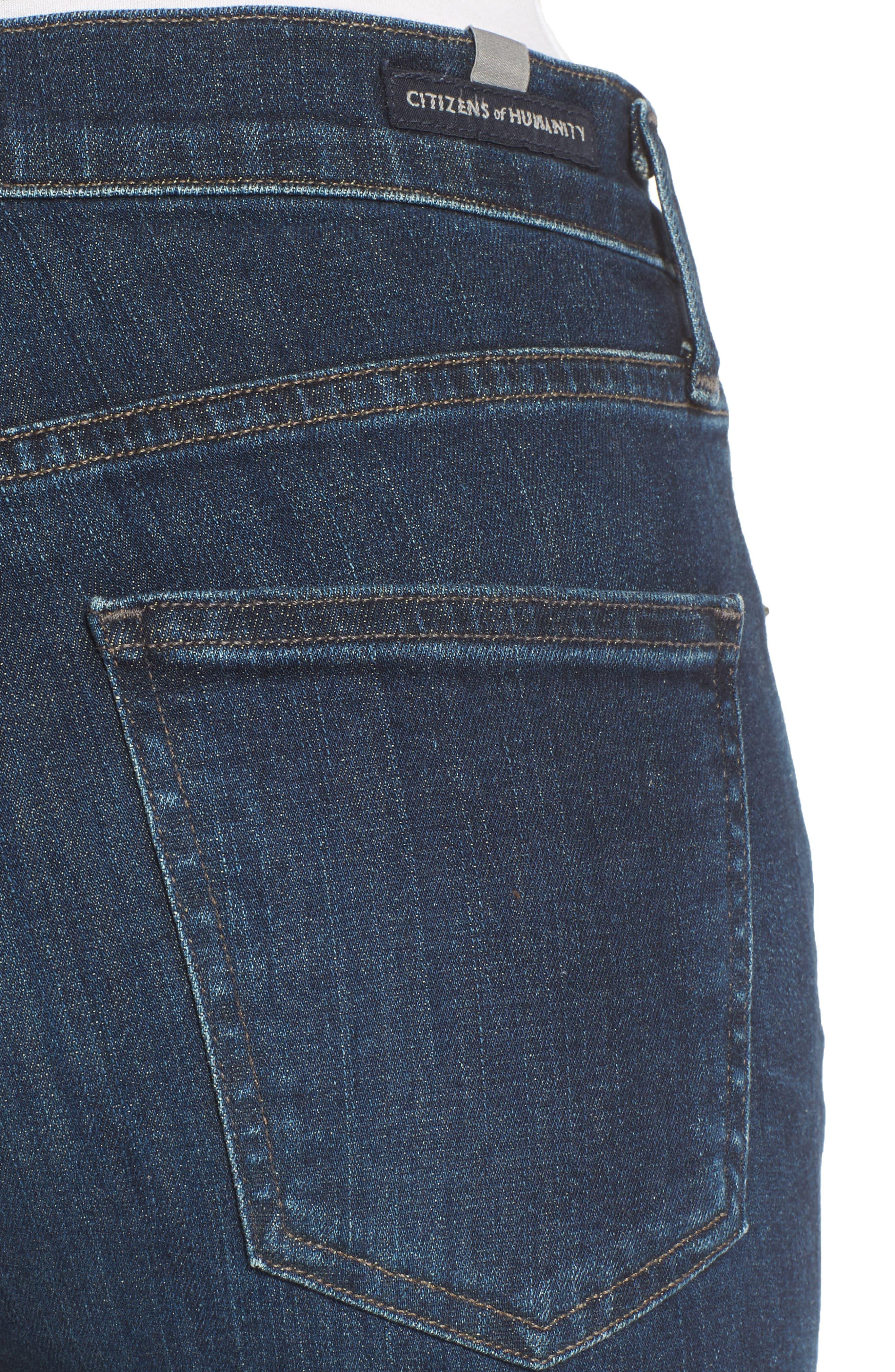 Cara Ankle Cigarette Jeans,                             Alternate thumbnail 4, color,                             Marisol