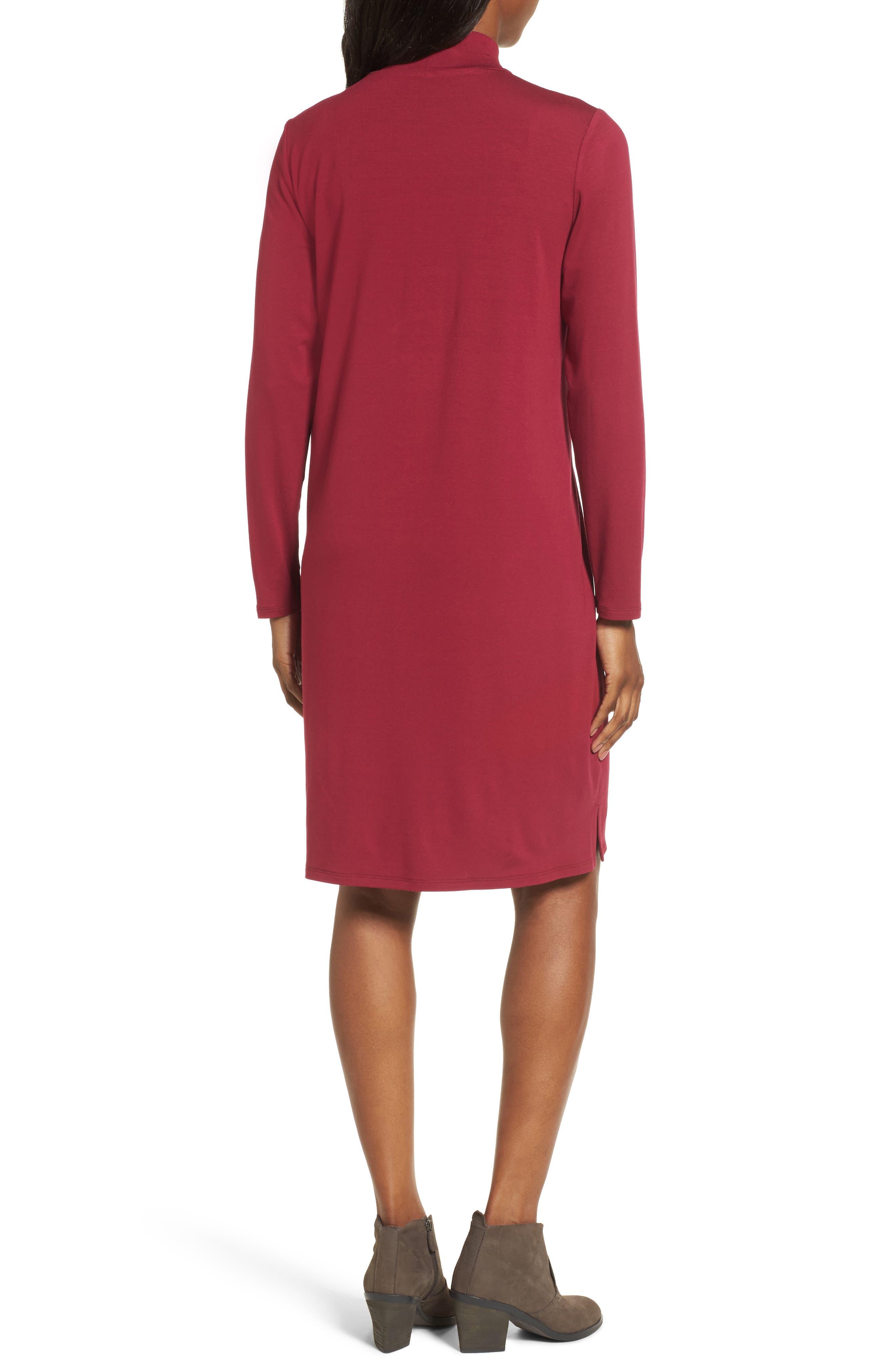 Alternate Image 2  - Eileen Fisher Mock Neck Shift Dress