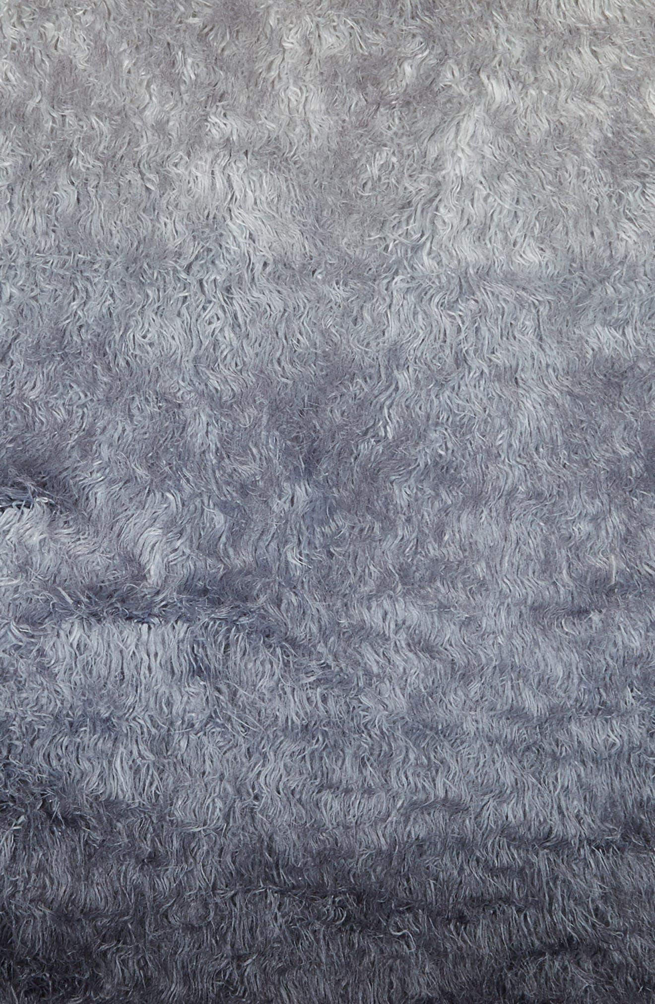 Ombré Faux Fur Rug,                             Alternate thumbnail 2, color,                             Navy Armada