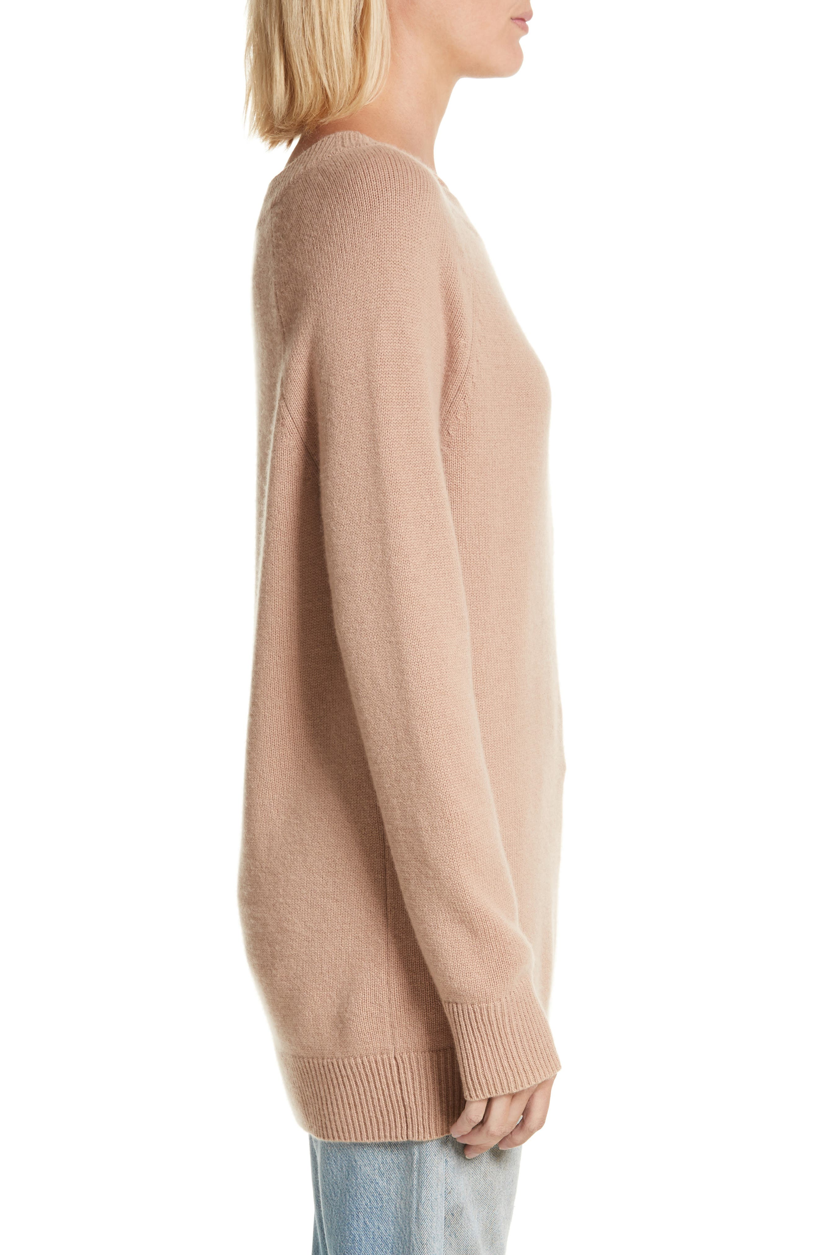 Cody Wool & Cashmere Boatneck Sweater,                             Alternate thumbnail 3, color,                             Camel