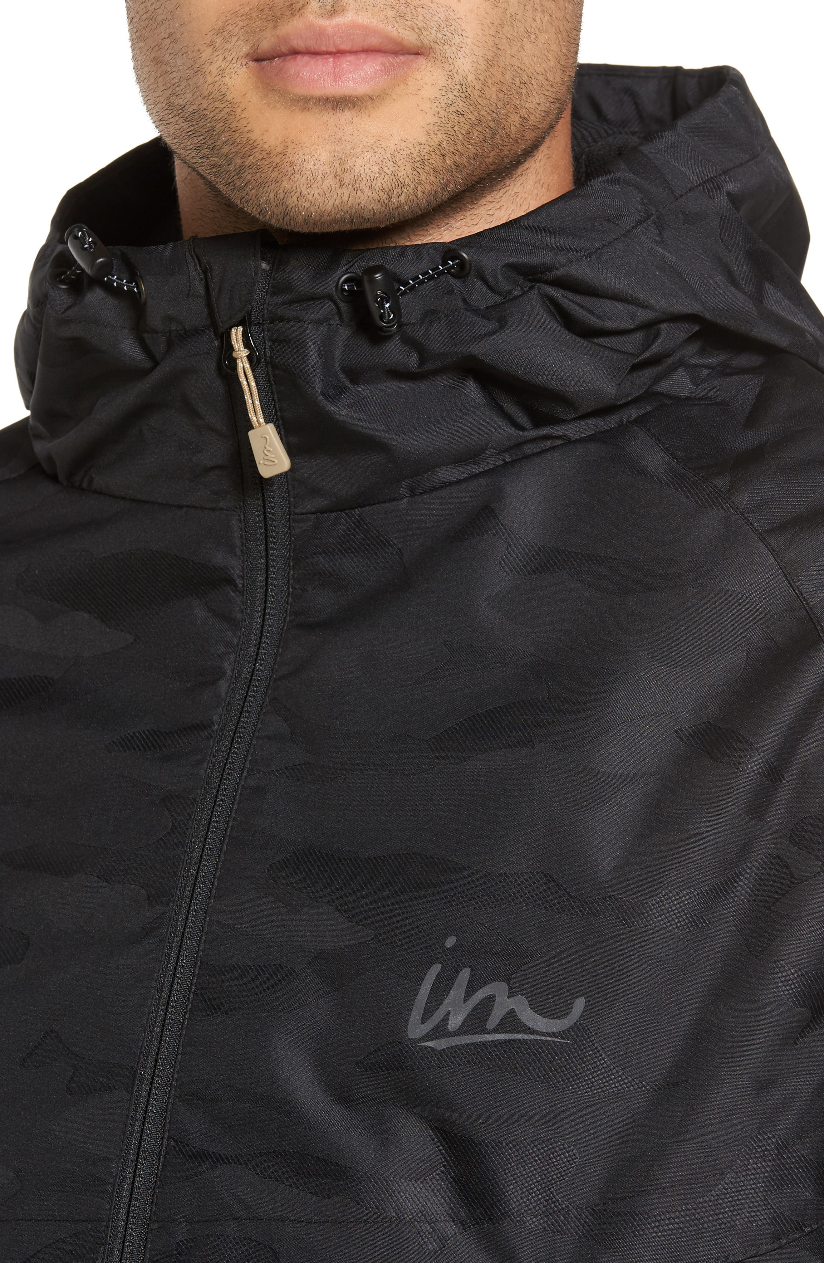 Larter Breaker Jacket,                             Alternate thumbnail 4, color,                             Black Camo