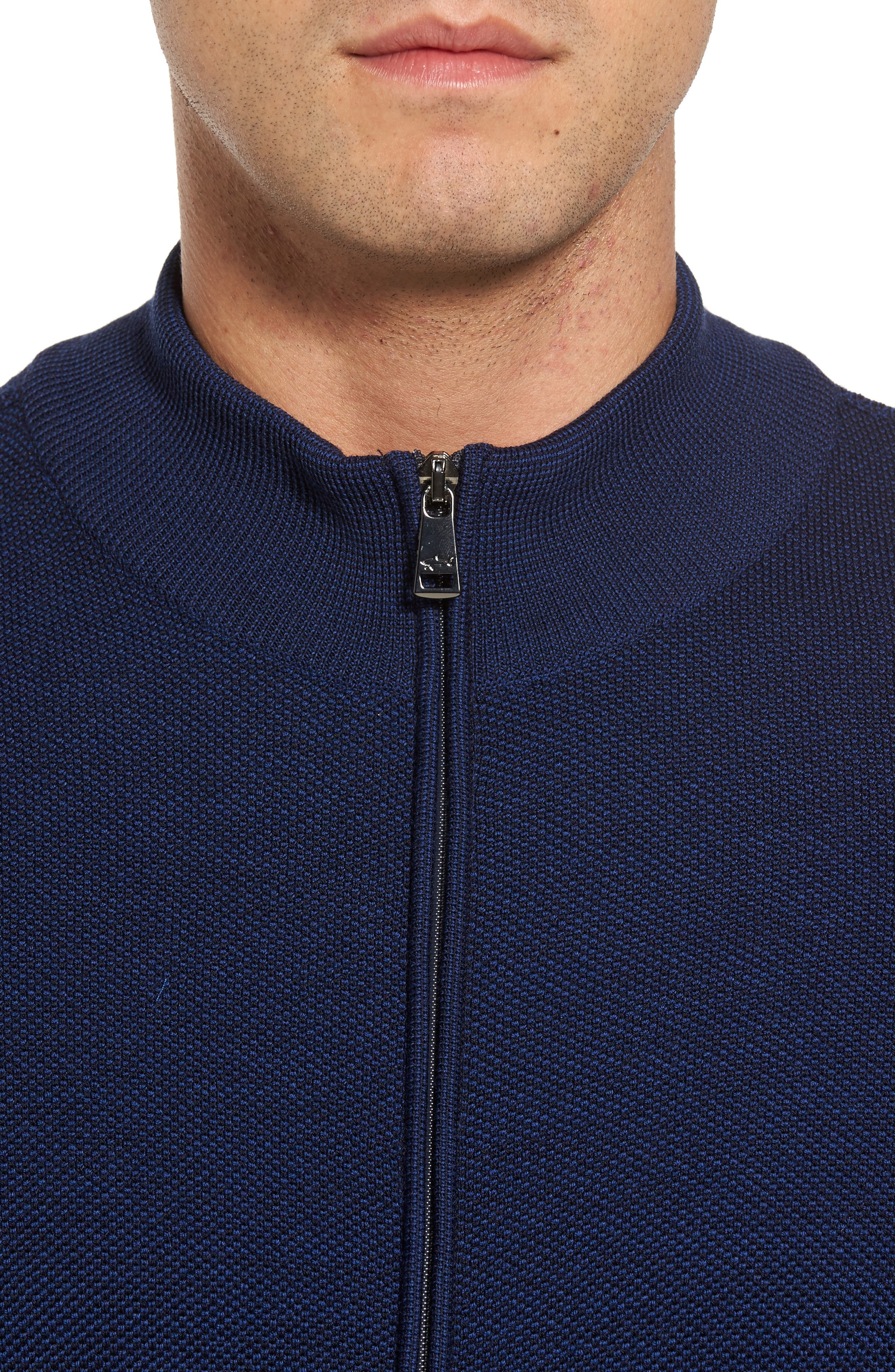 Alternate Image 4  - Paul & Shark Piqué Zip Wool Sweater