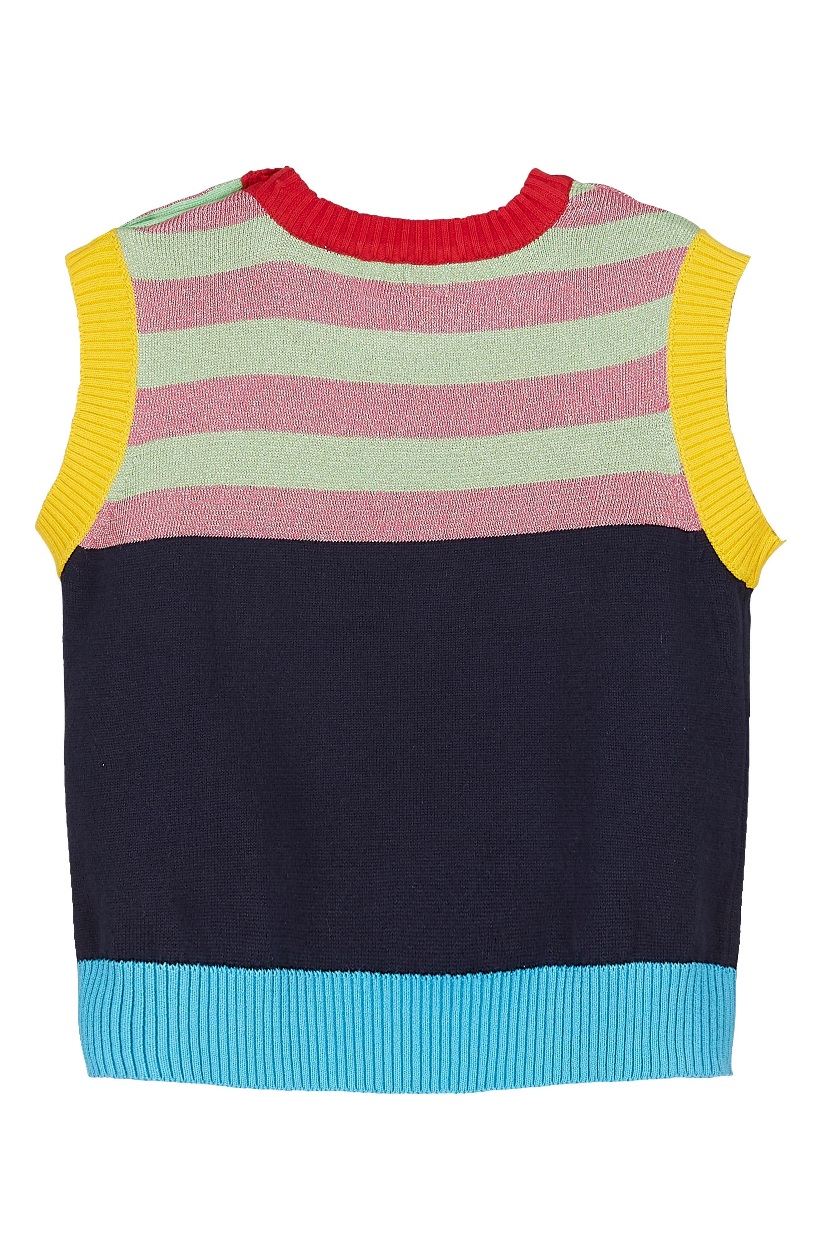 Alternate Image 2  - Margherita Stripe Knit Vest (Baby Girls)