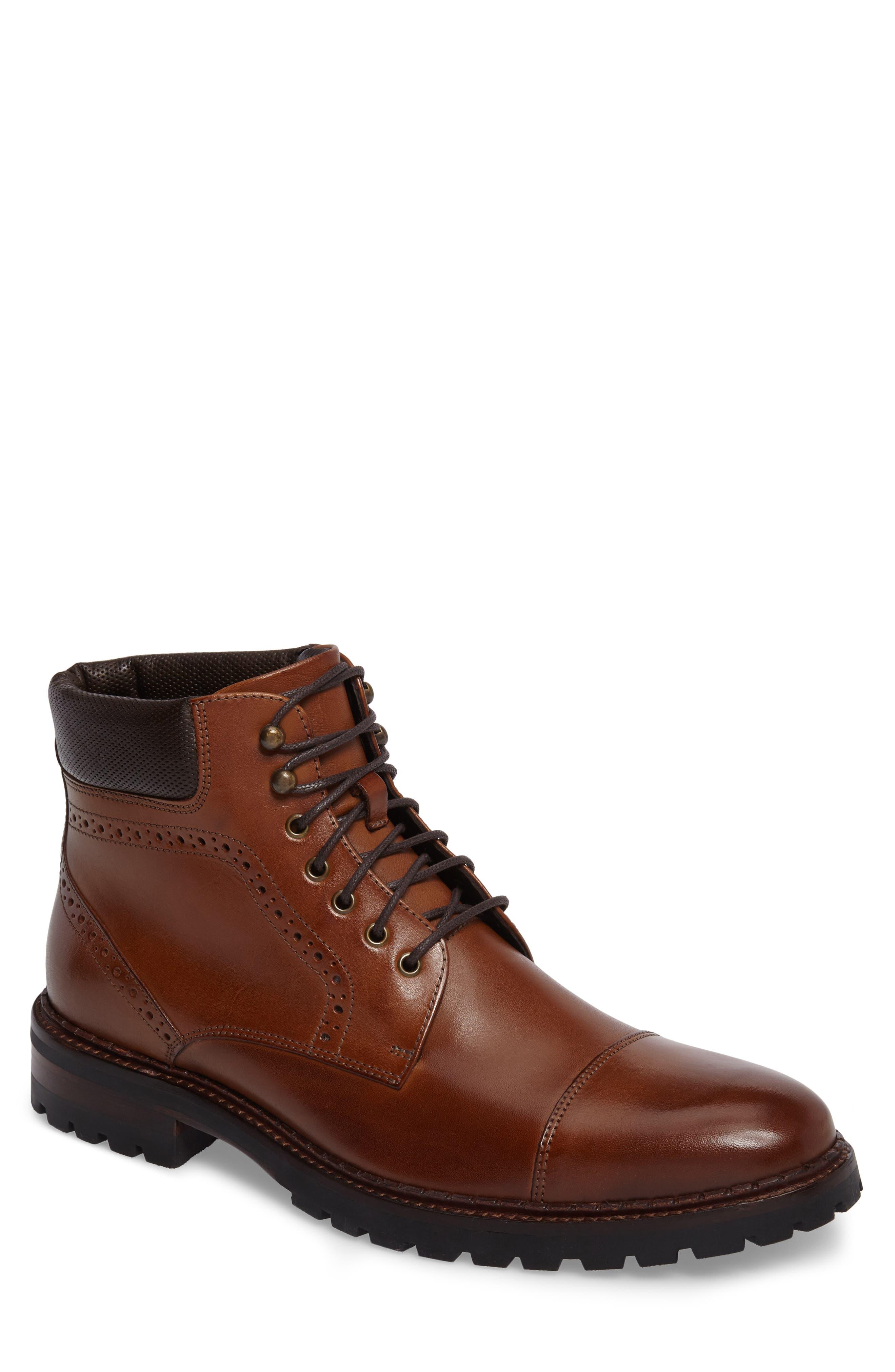 Jennings Cap Toe Boot,                         Main,                         color, Tan