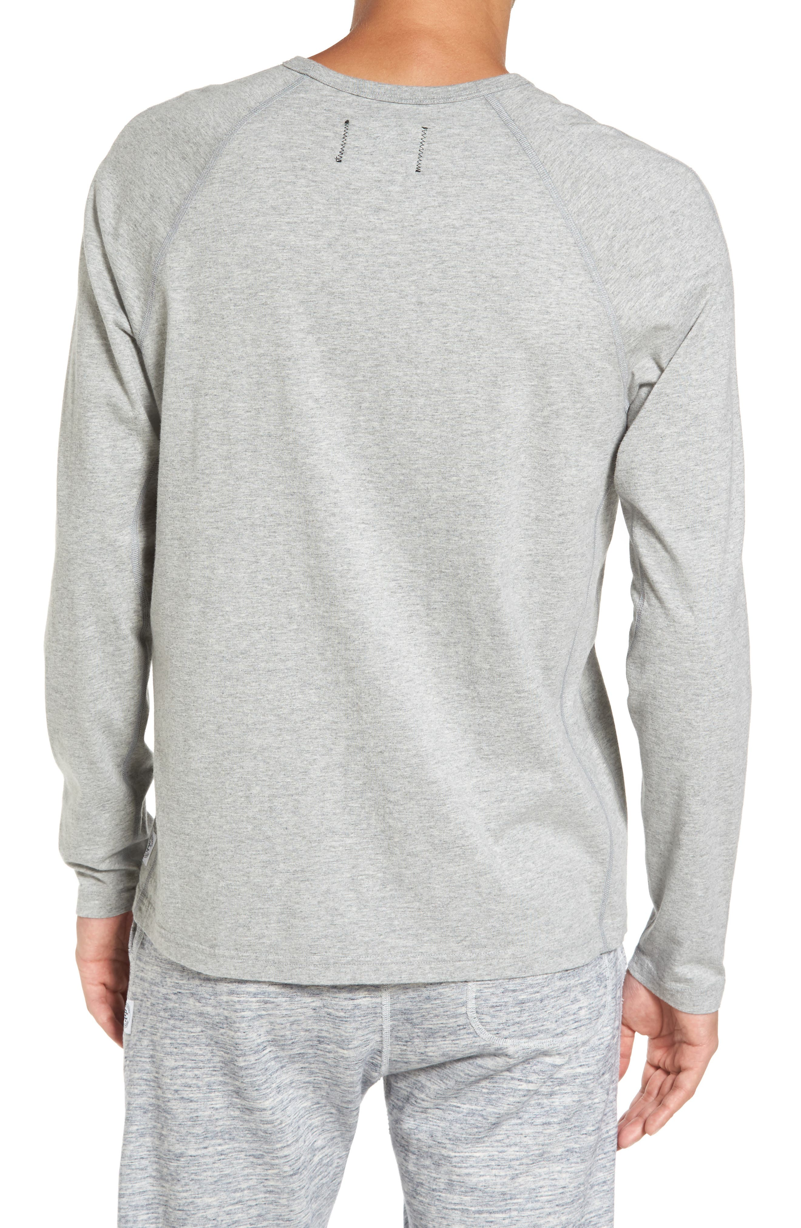 Gym Logo Long Sleeve T-Shirt,                             Alternate thumbnail 2, color,                             Heather Grey