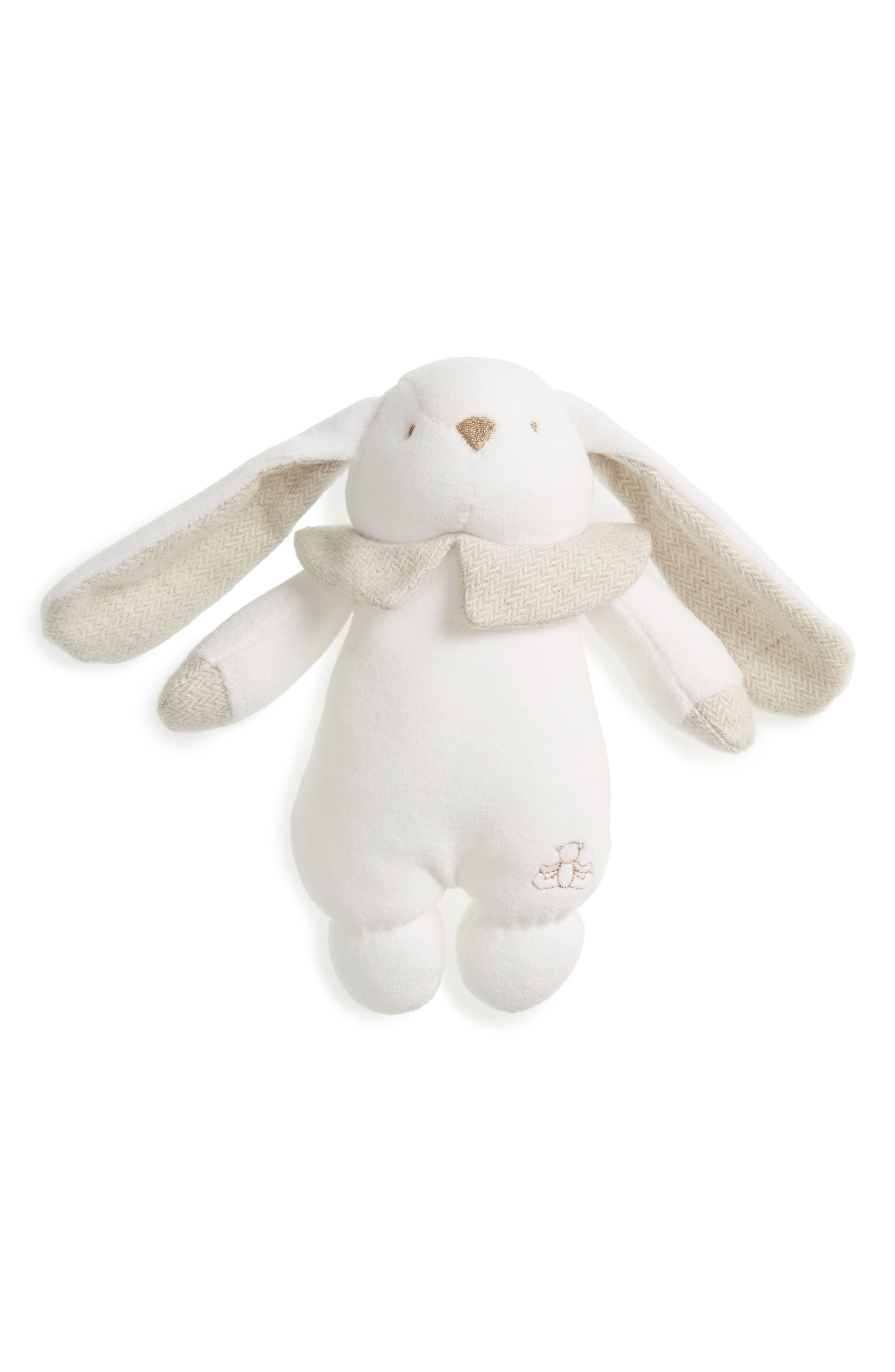 Pamplemousse Peluches Rabbit Lovey Rattle Toy