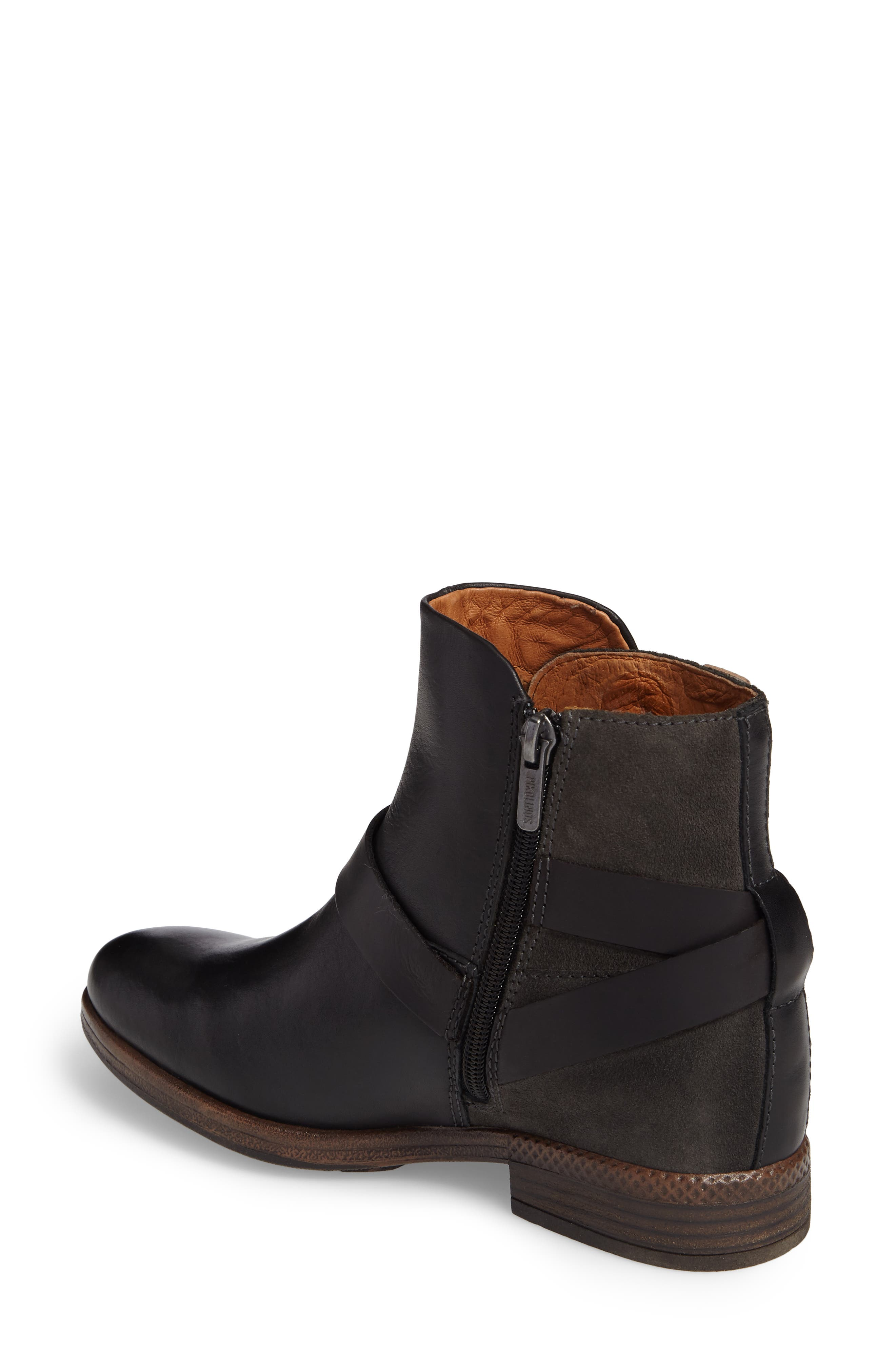 Ordino Bootie,                             Alternate thumbnail 2, color,                             Black Lead Leather
