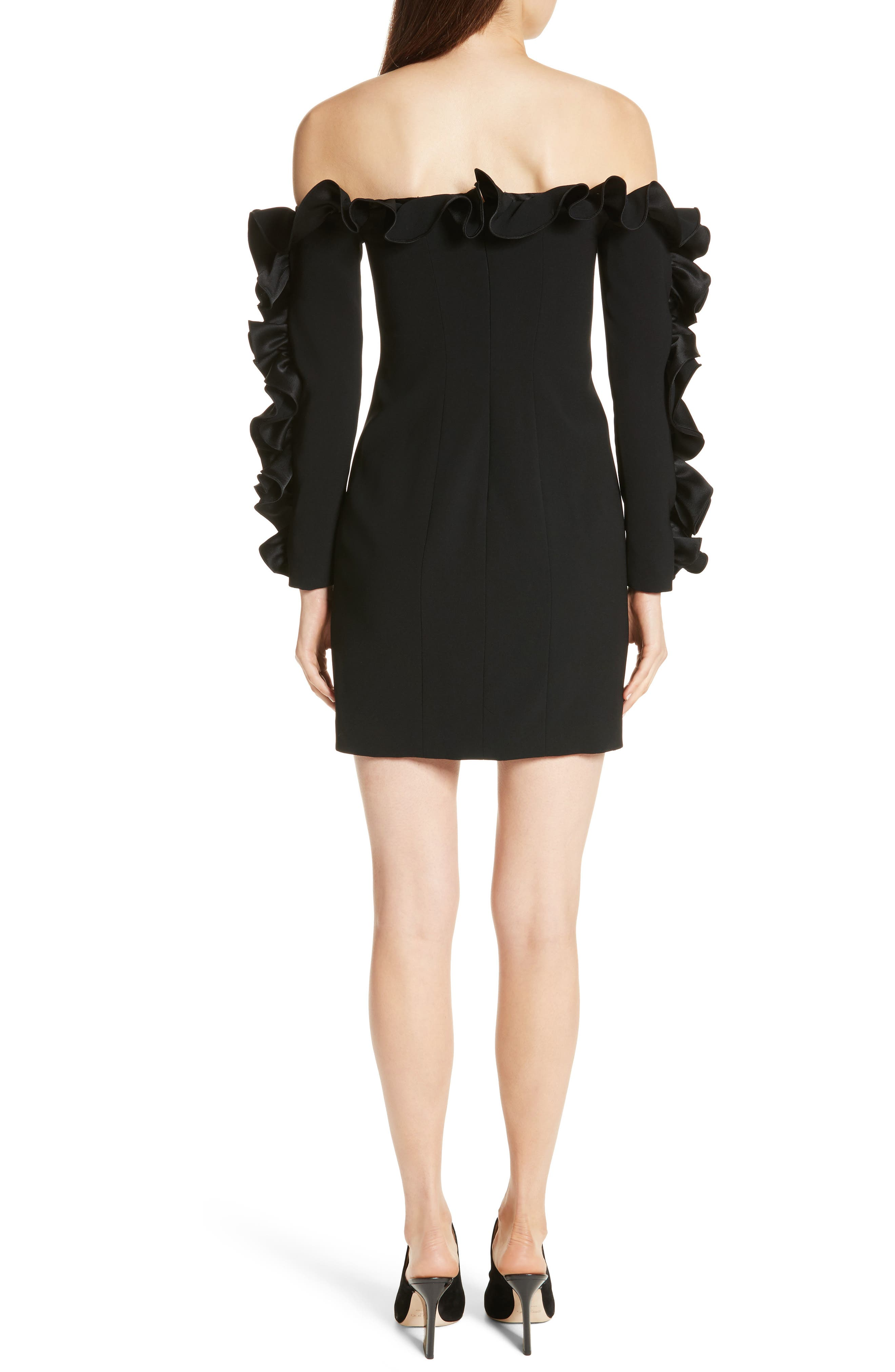 Alternate Image 2  - Cinq à Sept Rosemarie Ruffle Off the Shoulder Dress