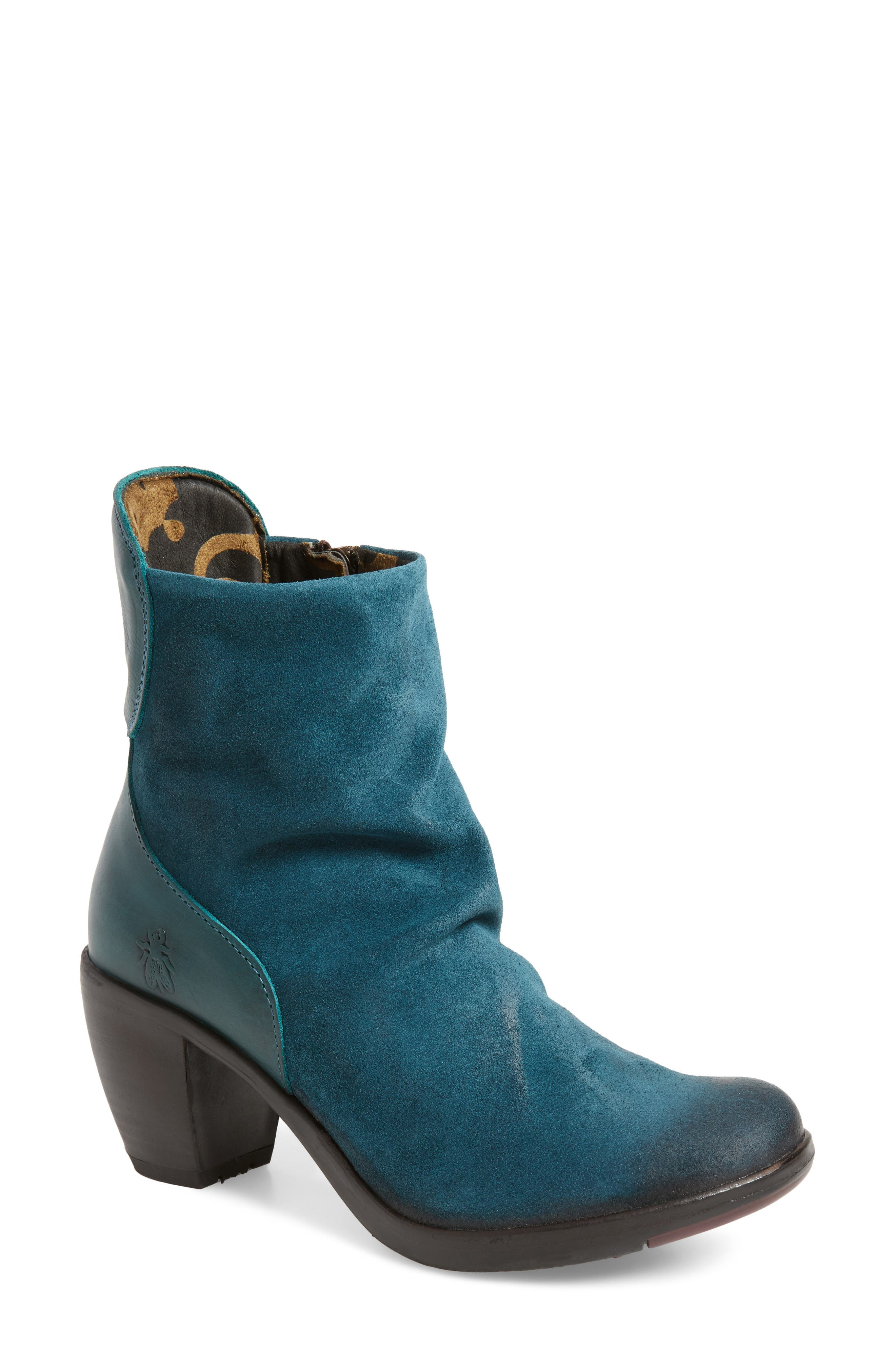 Hota Slouch Bootie,                         Main,                         color, Petrol Leather