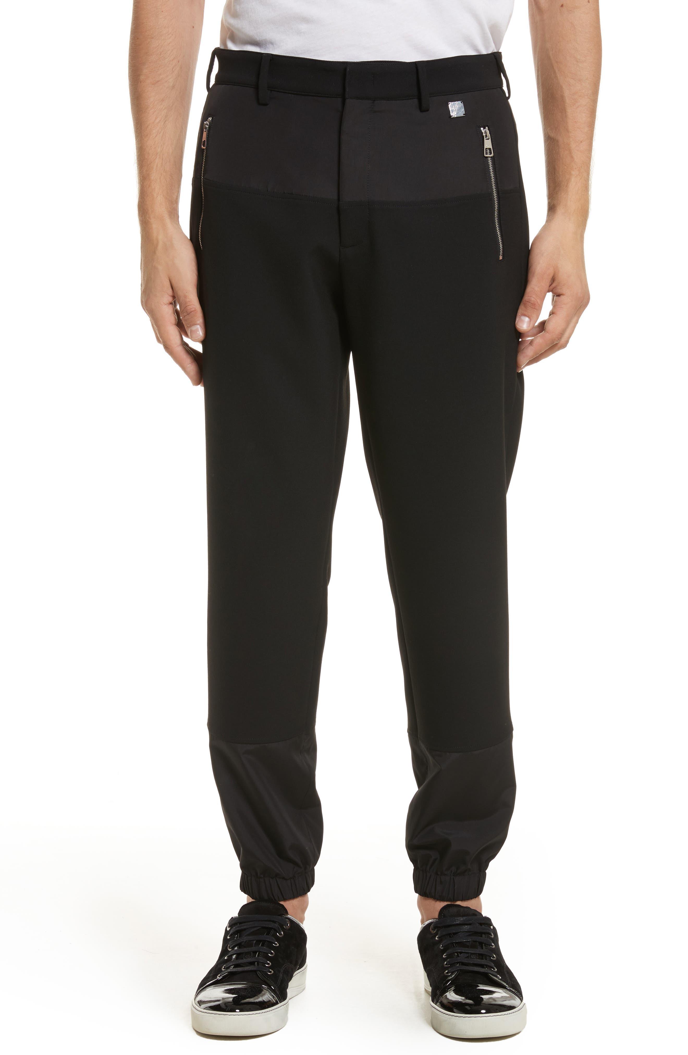 Contrast Panel Jogger Pants,                             Main thumbnail 1, color,                             Black