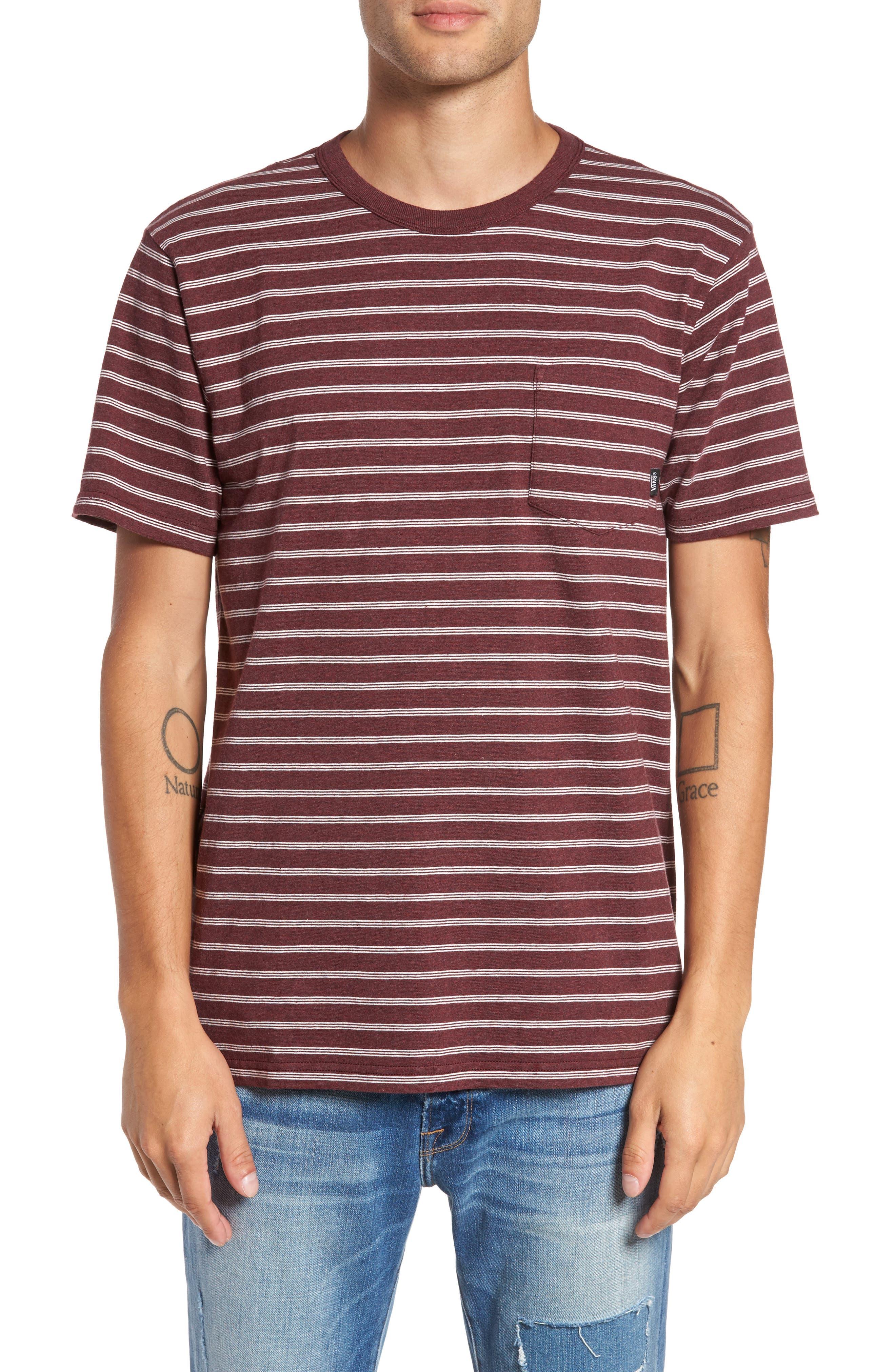 Lined-Up Stripe Pocket T-Shirt,                         Main,                         color, Port Royale