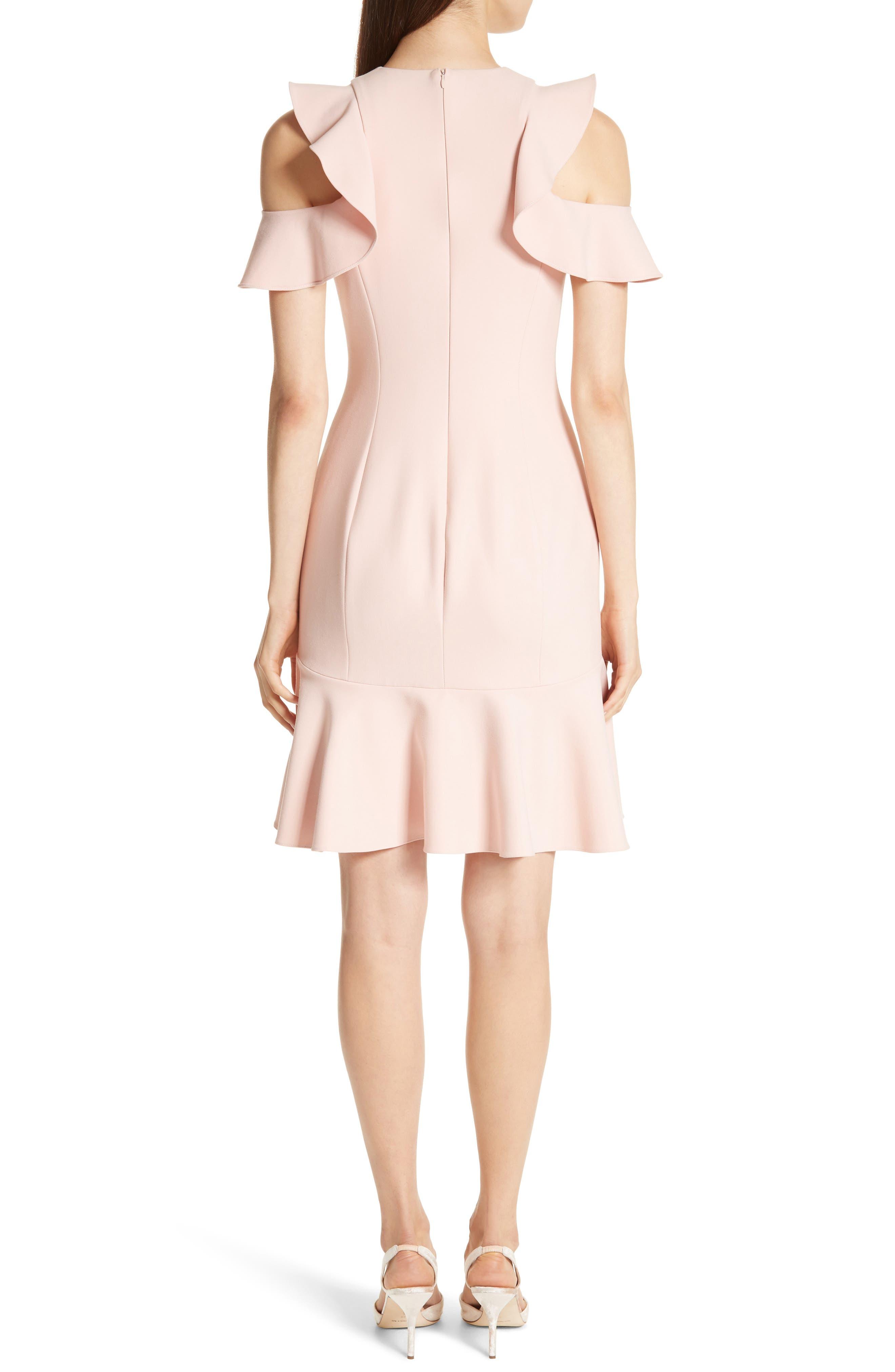 Alternate Image 2  - Cinq à Sept Micah Ruffle Cold Shoulder Dress