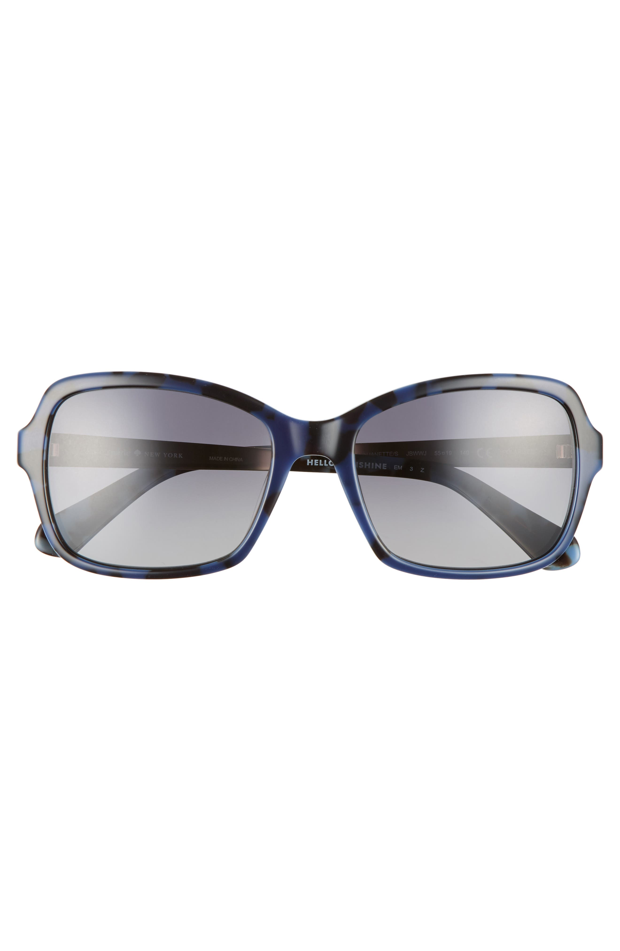 annjanette 55mm polarized sunglasses,                             Alternate thumbnail 3, color,                             Blue Havana