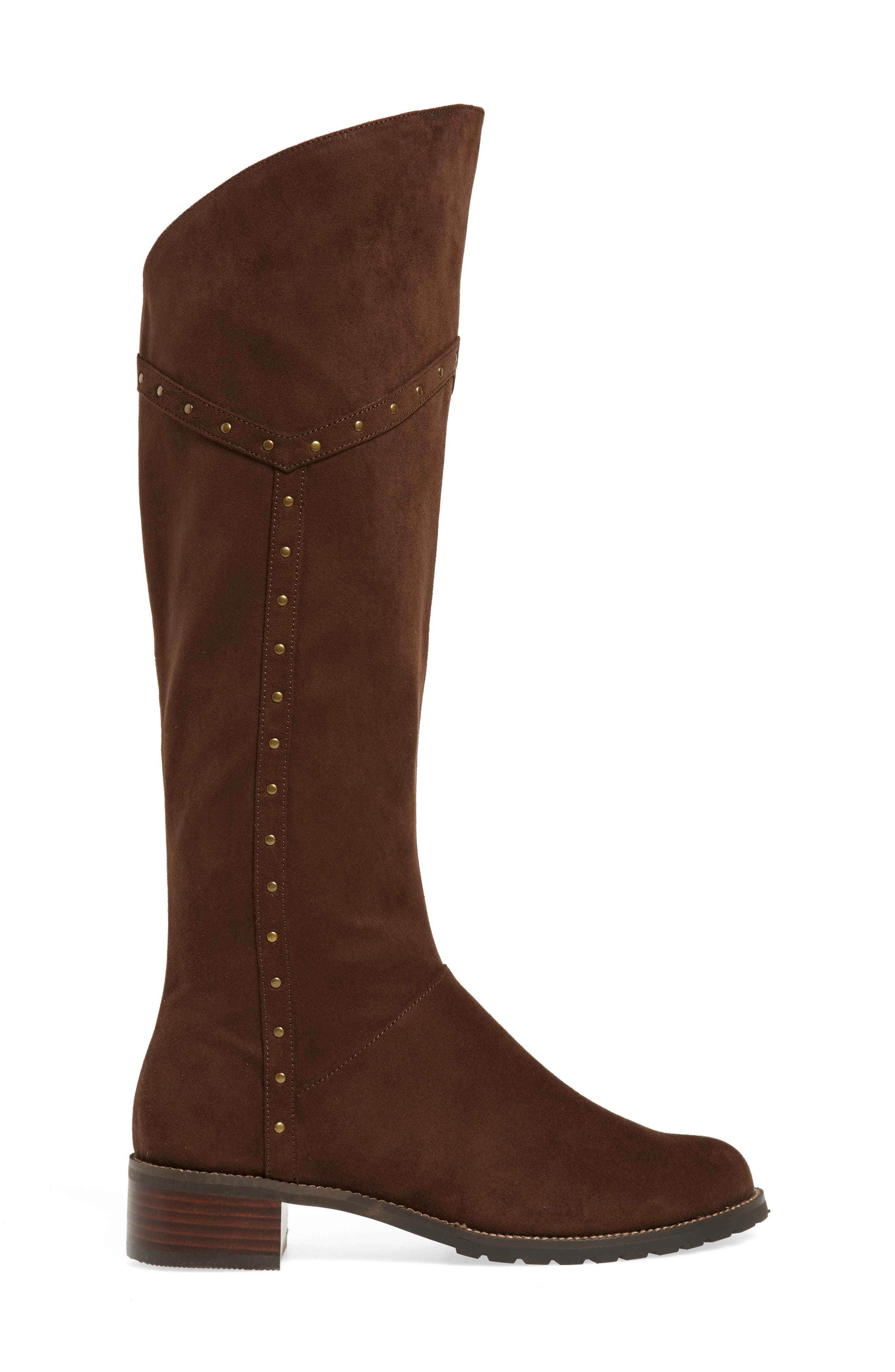 Alanis II Tall Boot,                             Alternate thumbnail 3, color,                             Brown Suede