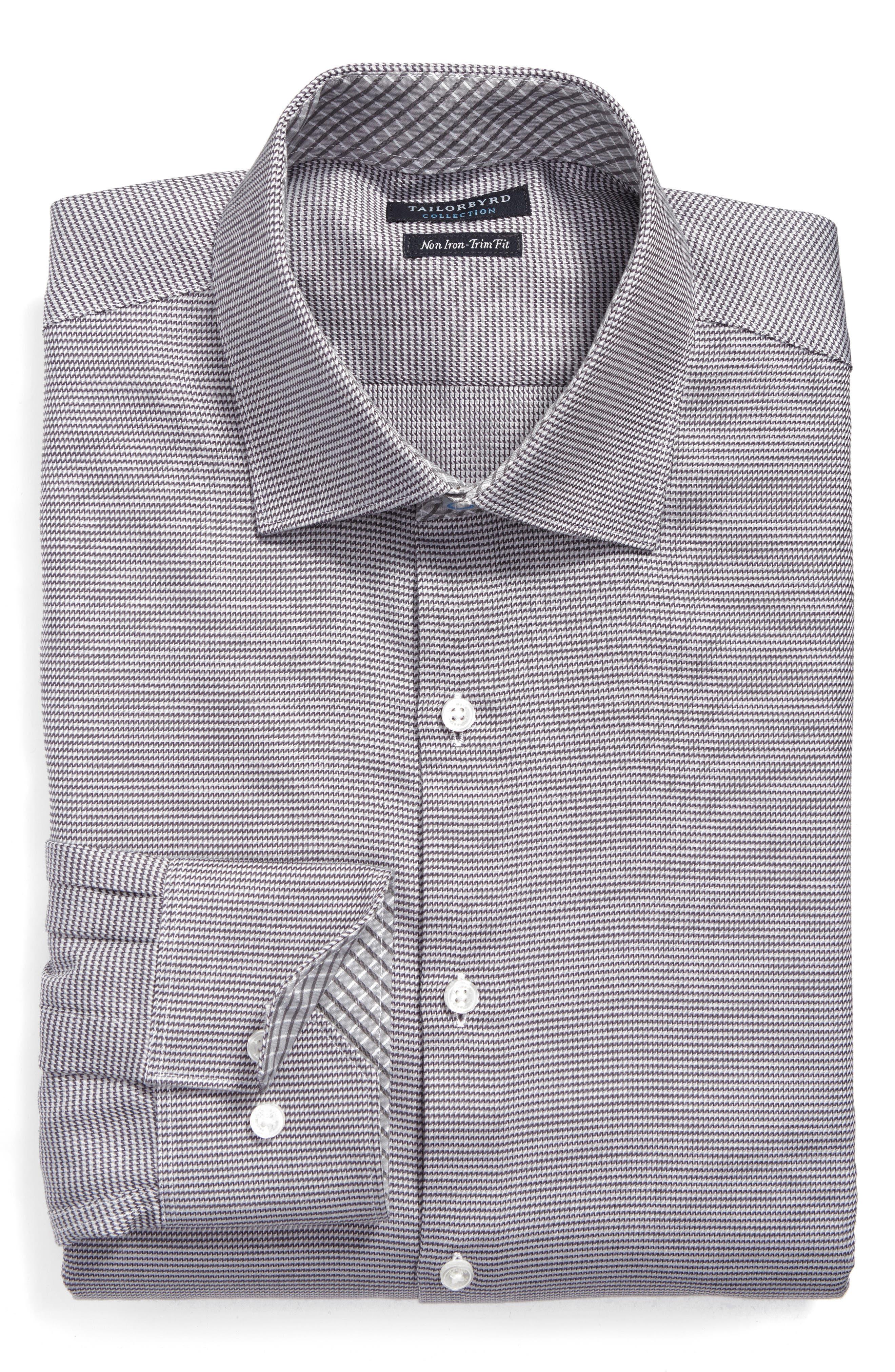 Tailorbyrd Edgard Trim Fit Non-Iron Print Dress Shirt