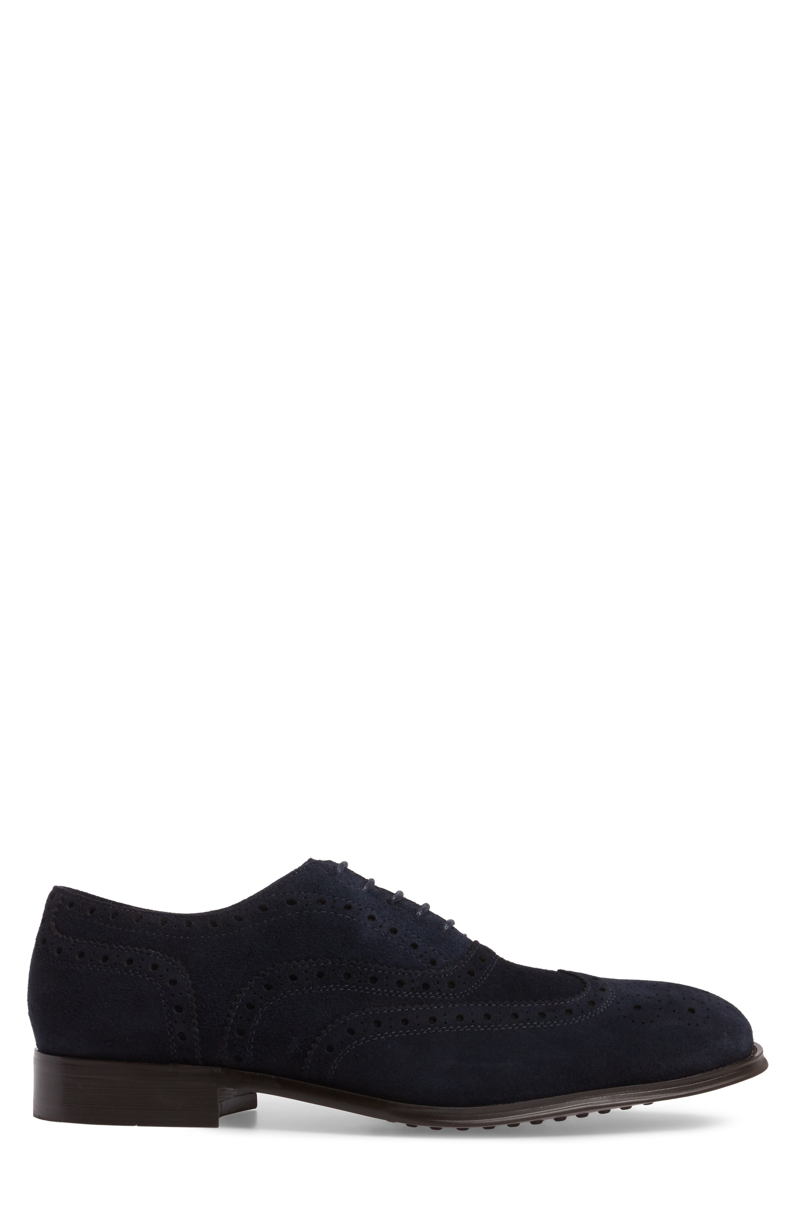 Wingtip,                             Alternate thumbnail 3, color,                             Midnight Navy Leather