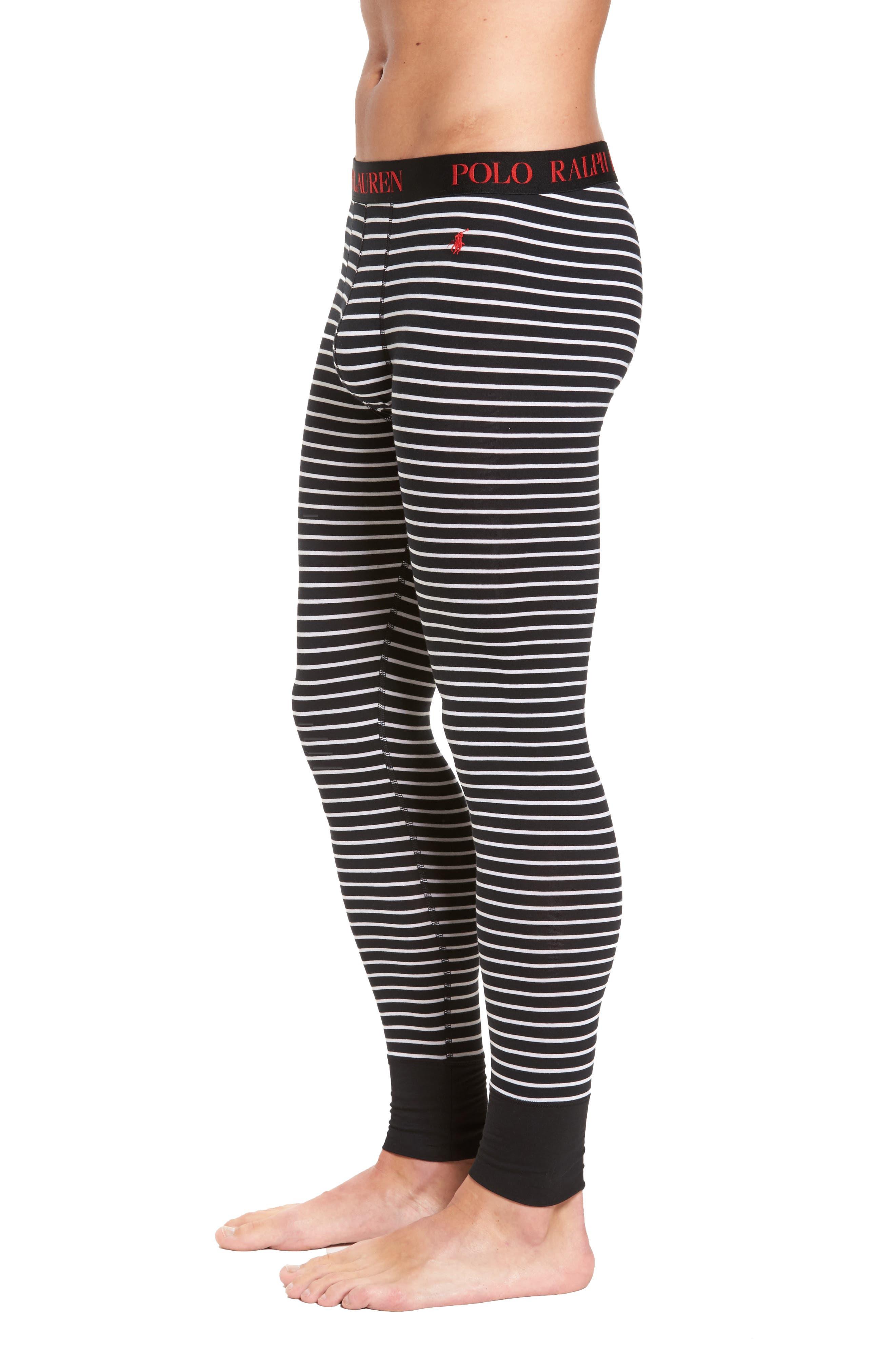 Long Underwear,                             Alternate thumbnail 3, color,                             Polo Black Stripe
