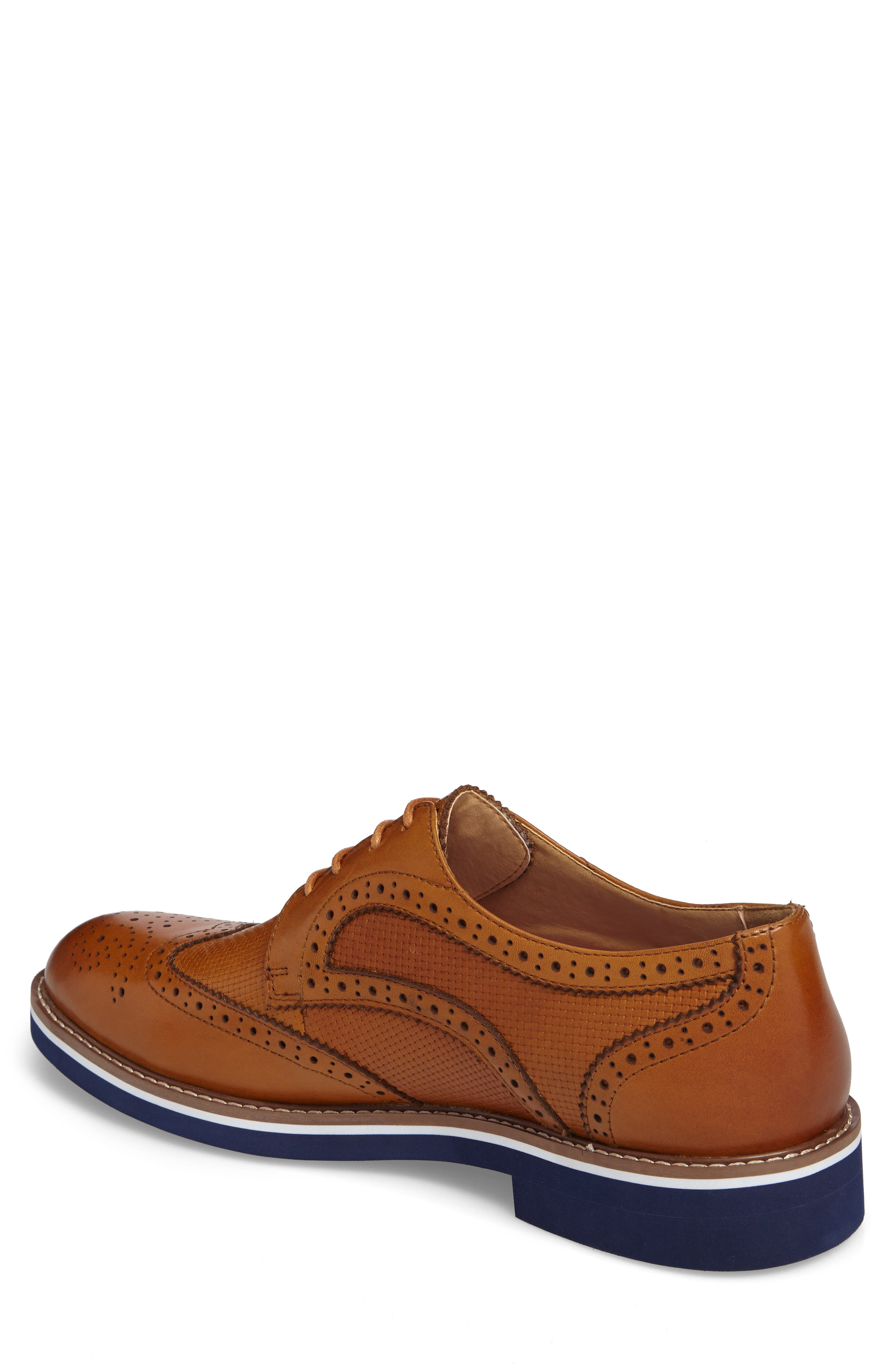 Northfields Spectator Shoe,                             Alternate thumbnail 2, color,                             Cognac Leather