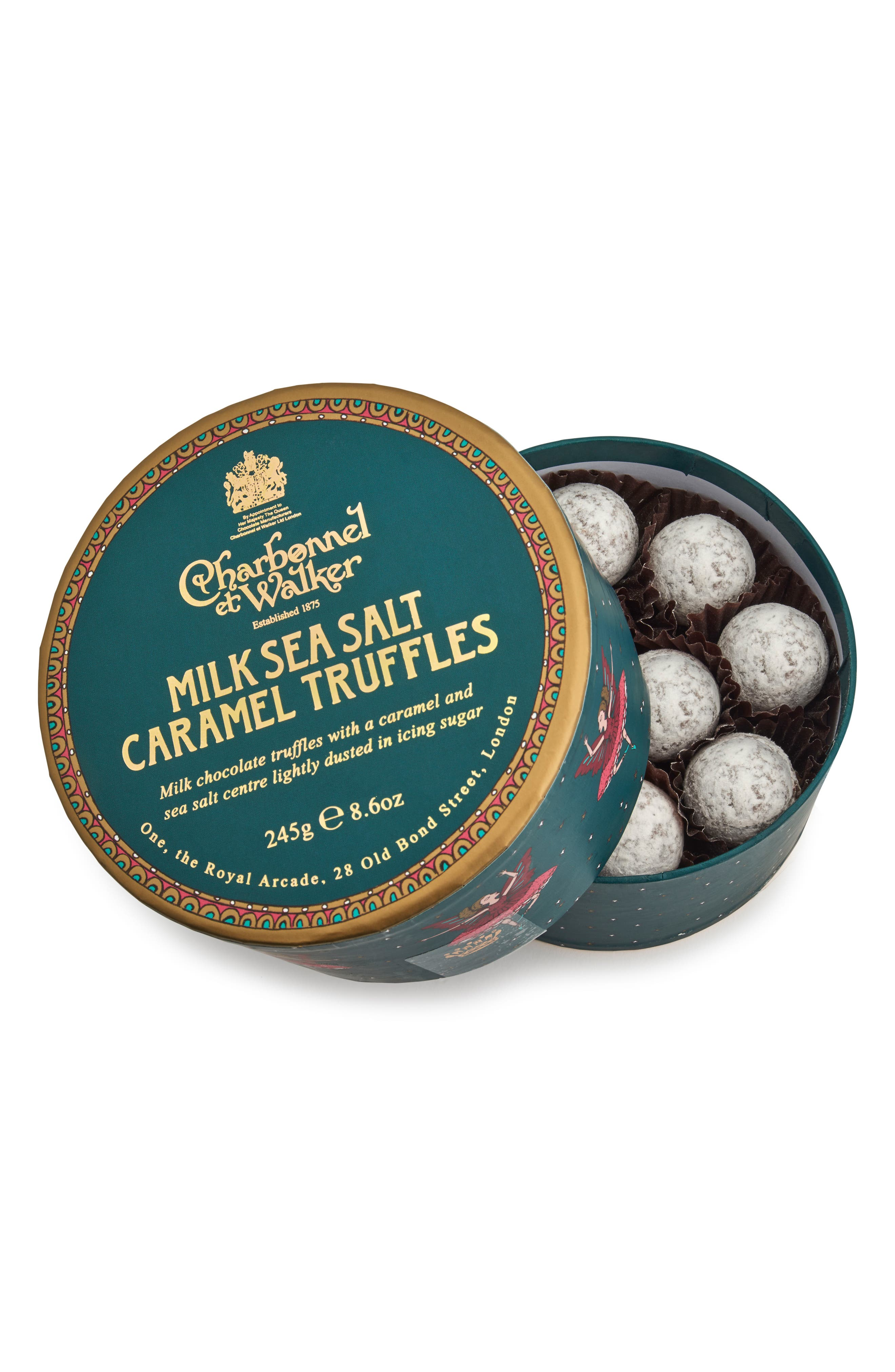 Sea Salt Milk Chocolate Truffles in Gift Box,                             Alternate thumbnail 2, color,                             Green