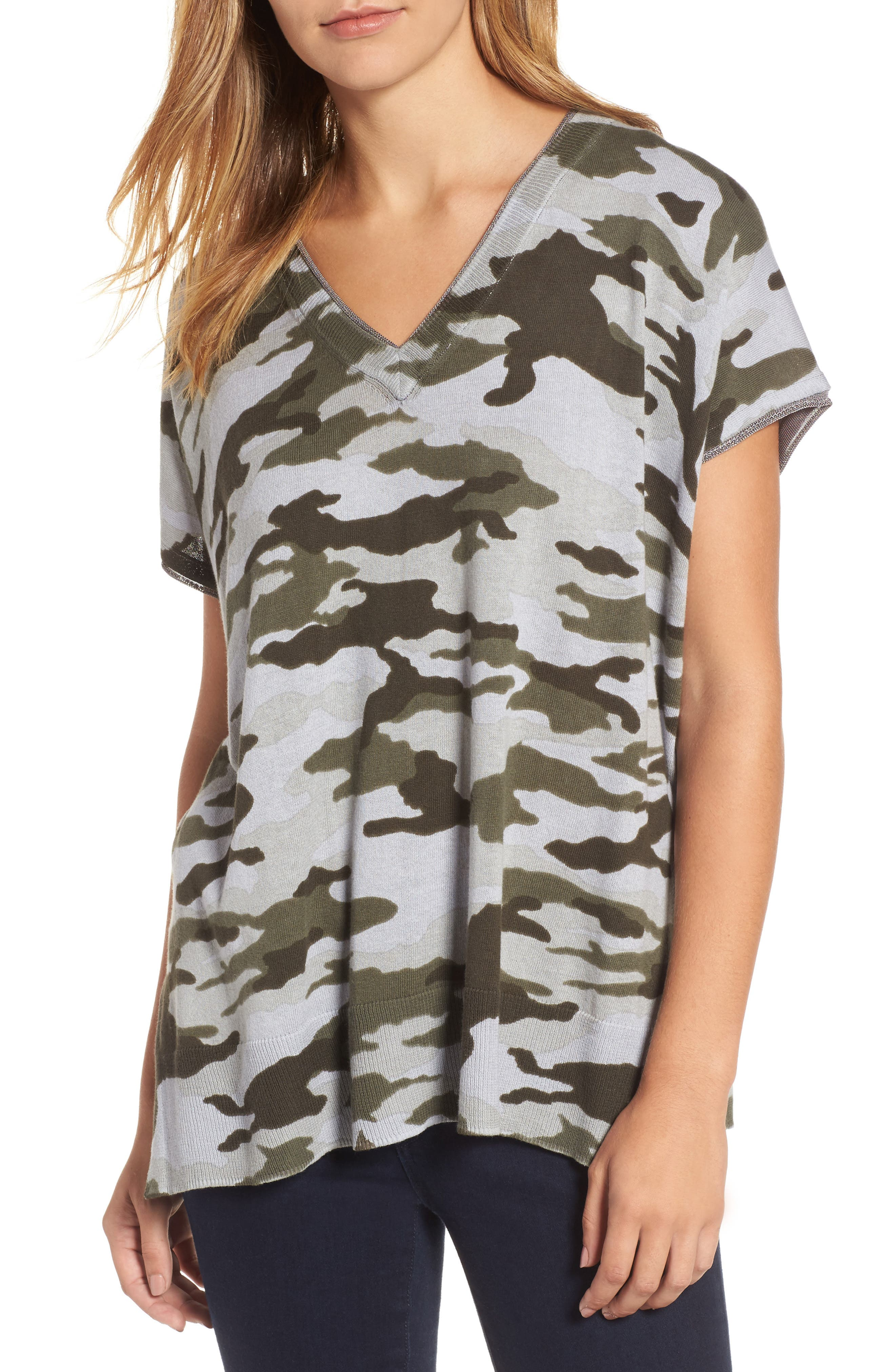TWO BY VINCE CAMUTO Camo Print Sweater