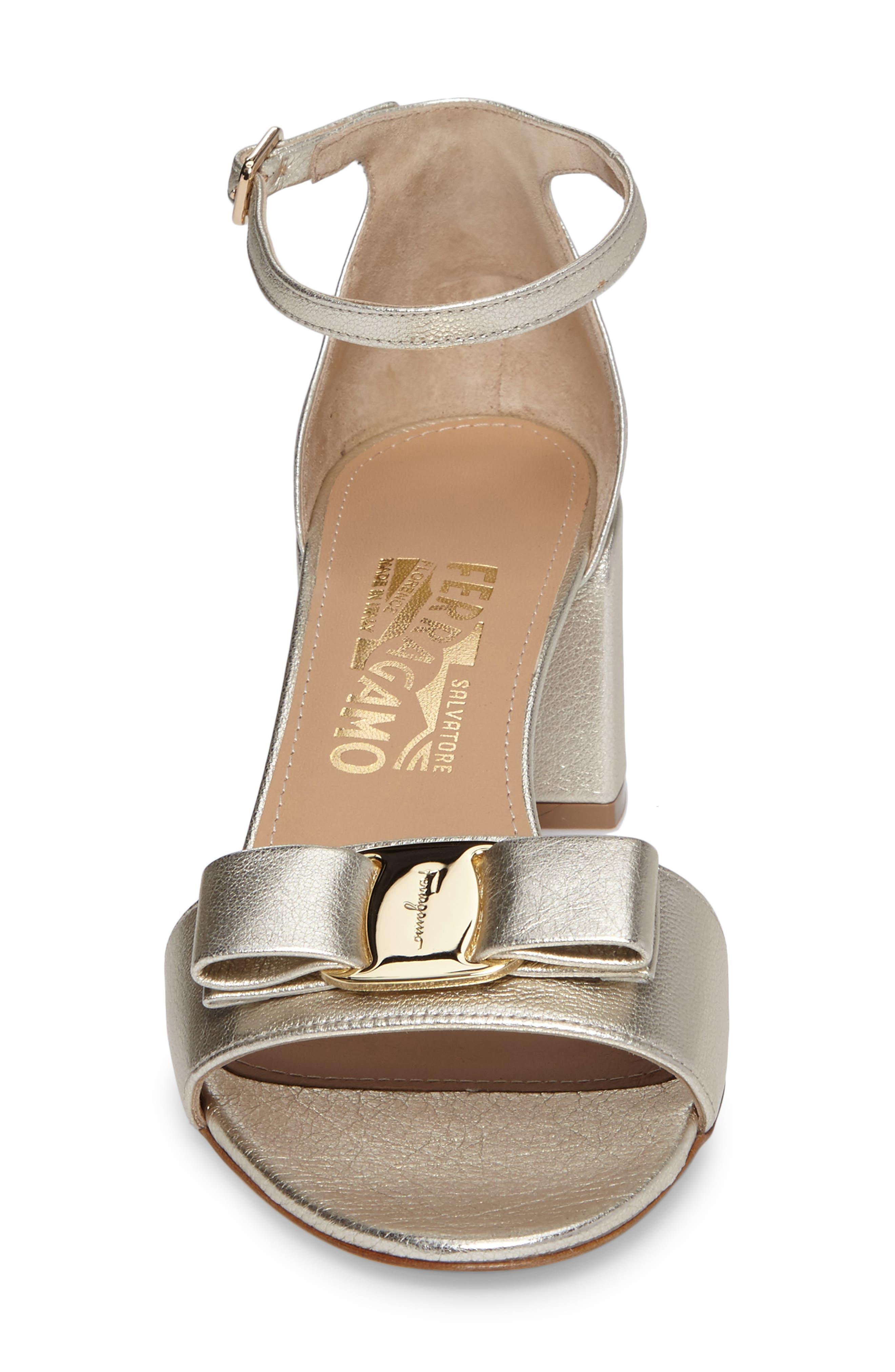 Alternate Image 4  - Salvatore Ferragamo Block Heel Bow Sandal (Women)