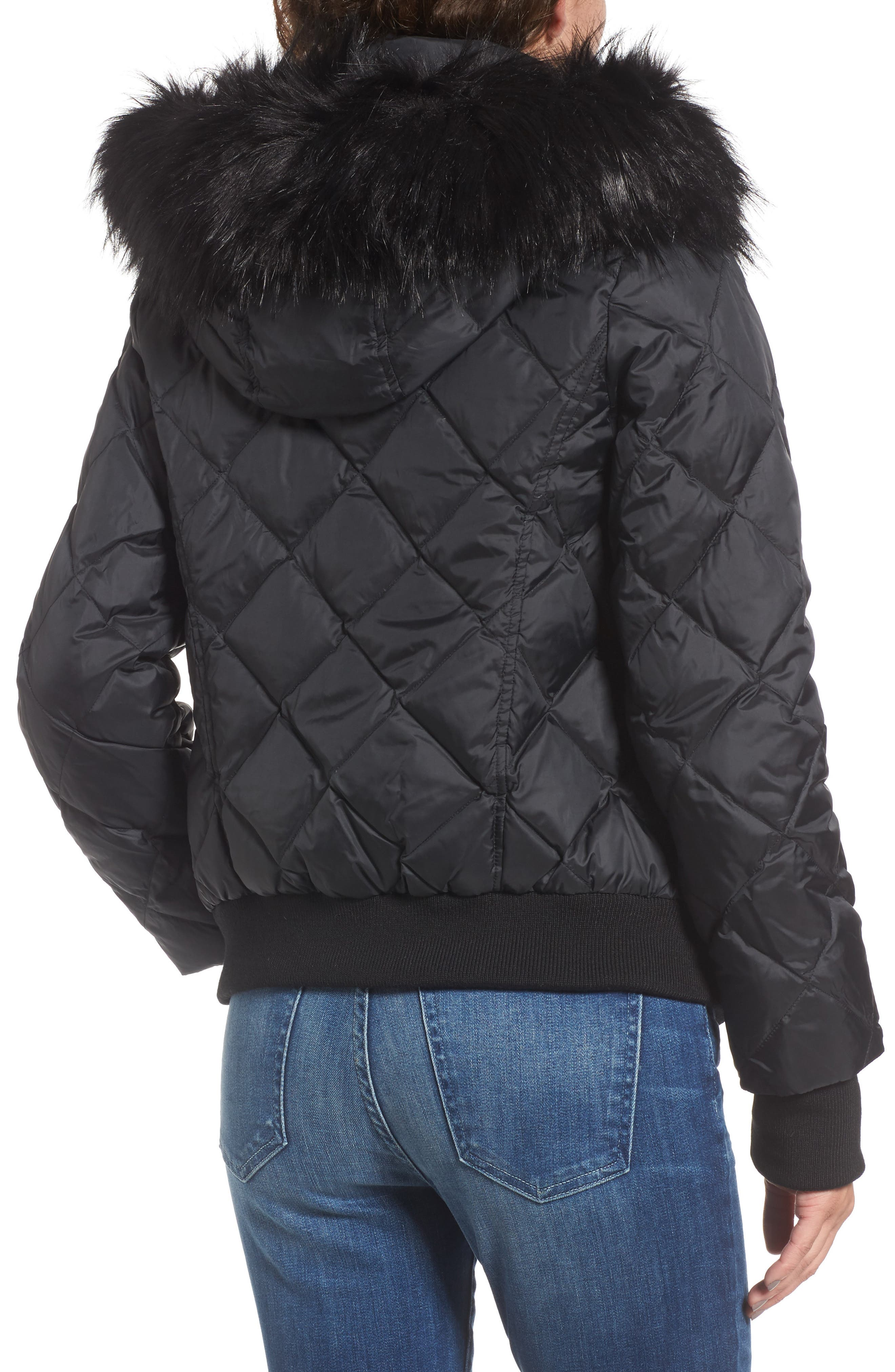 Alternate Image 2  - Juicy Couture Hooded Puffer Jacket with Faux Fur Trim