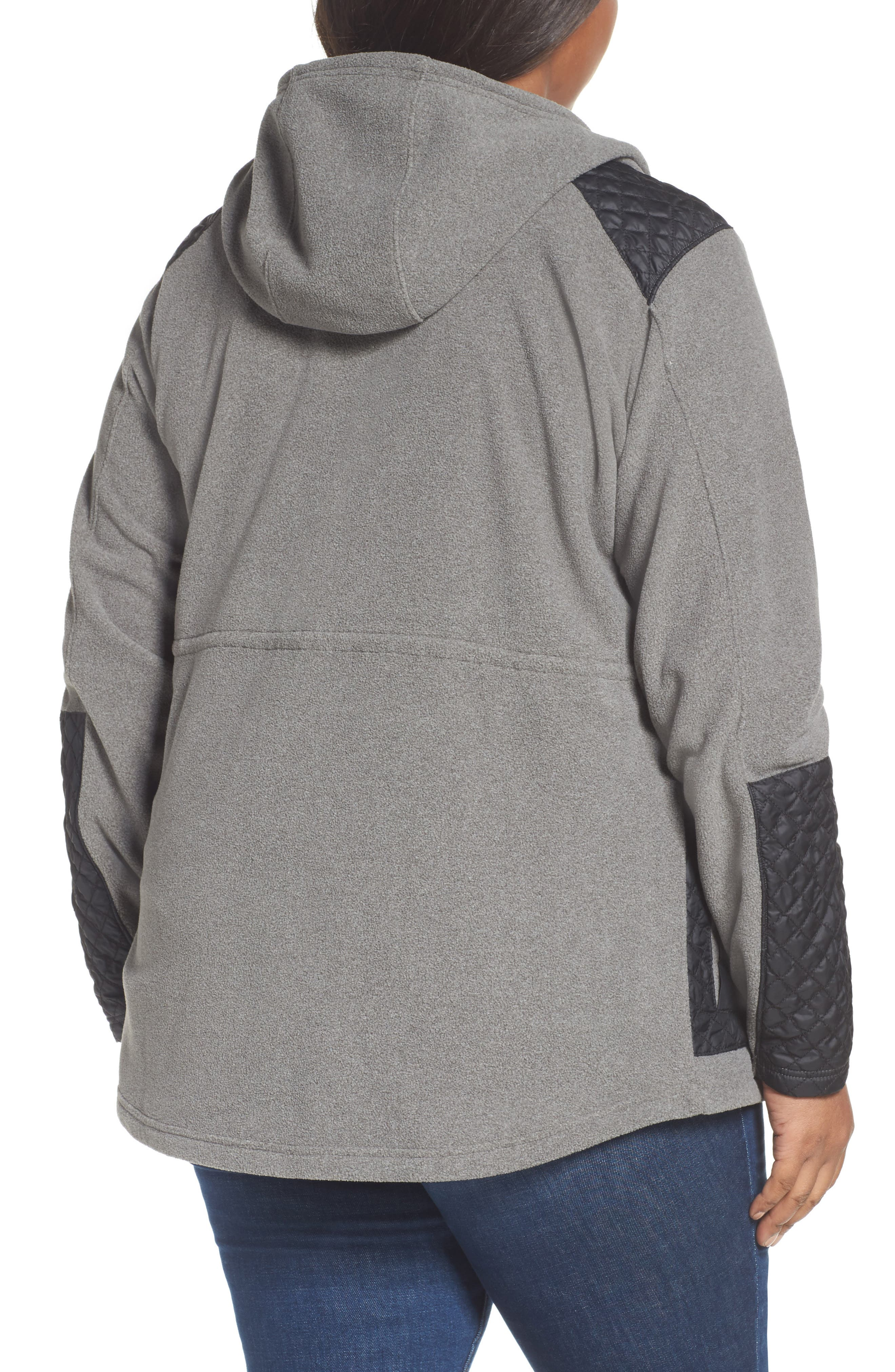 Warm Up Hooded Fleece Jacket,                             Alternate thumbnail 2, color,                             Charcoal Heather