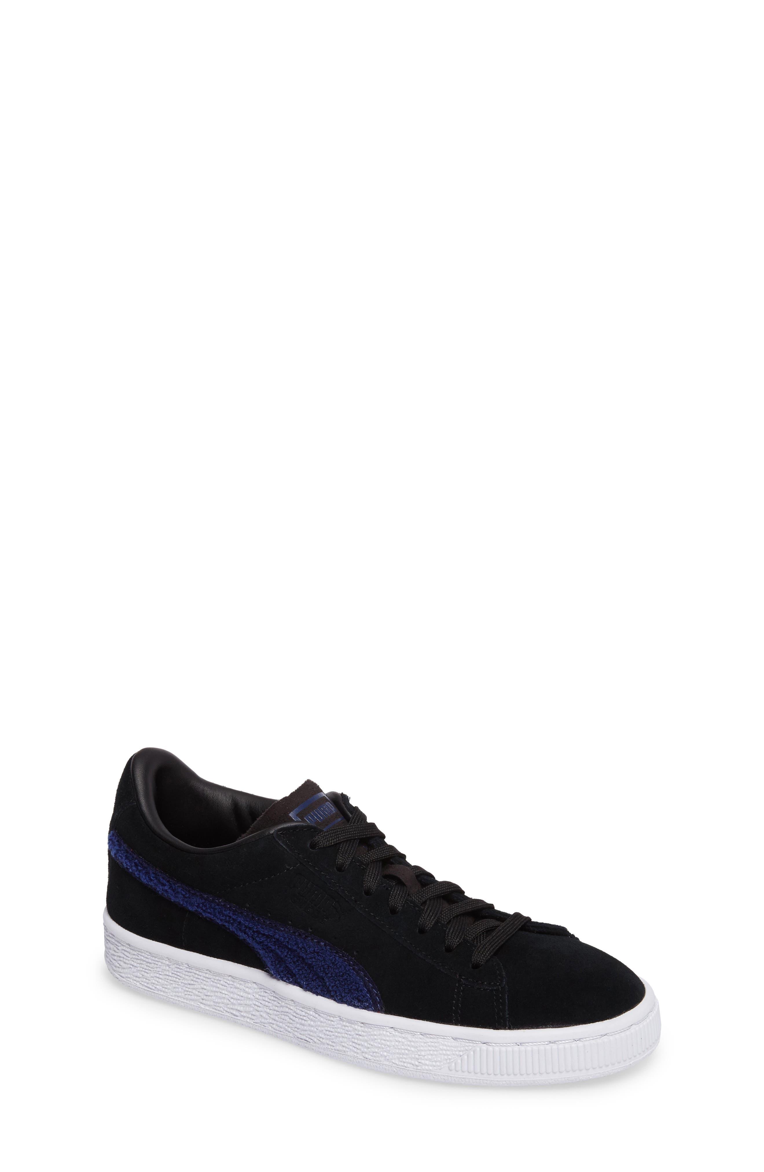 Classic Terry Jr Sneaker,                             Main thumbnail 1, color,                             Black