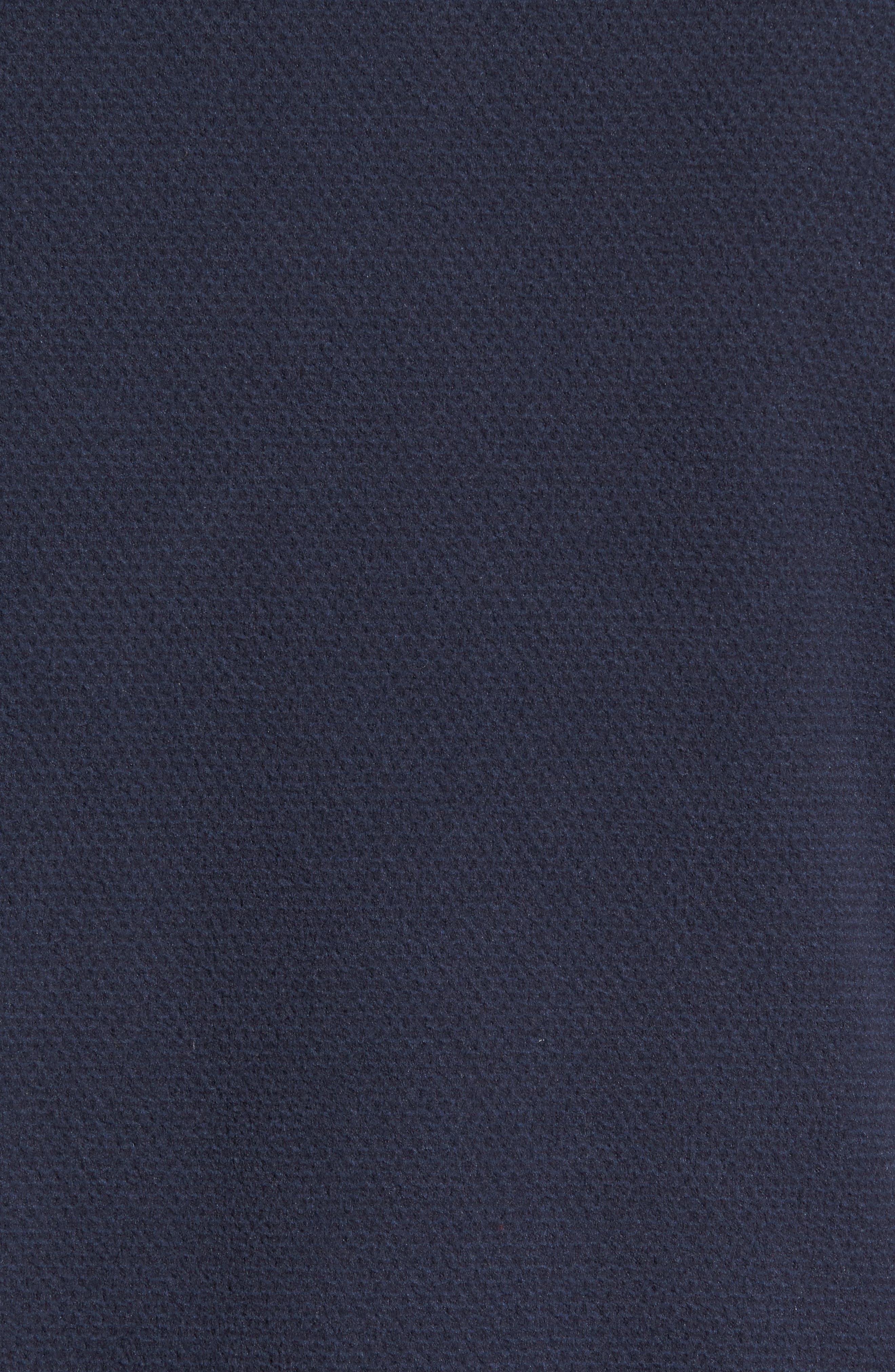 Texture Cap Rock Quarter Zip Fleece Jacket,                             Alternate thumbnail 5, color,                             Urban Navy Texture