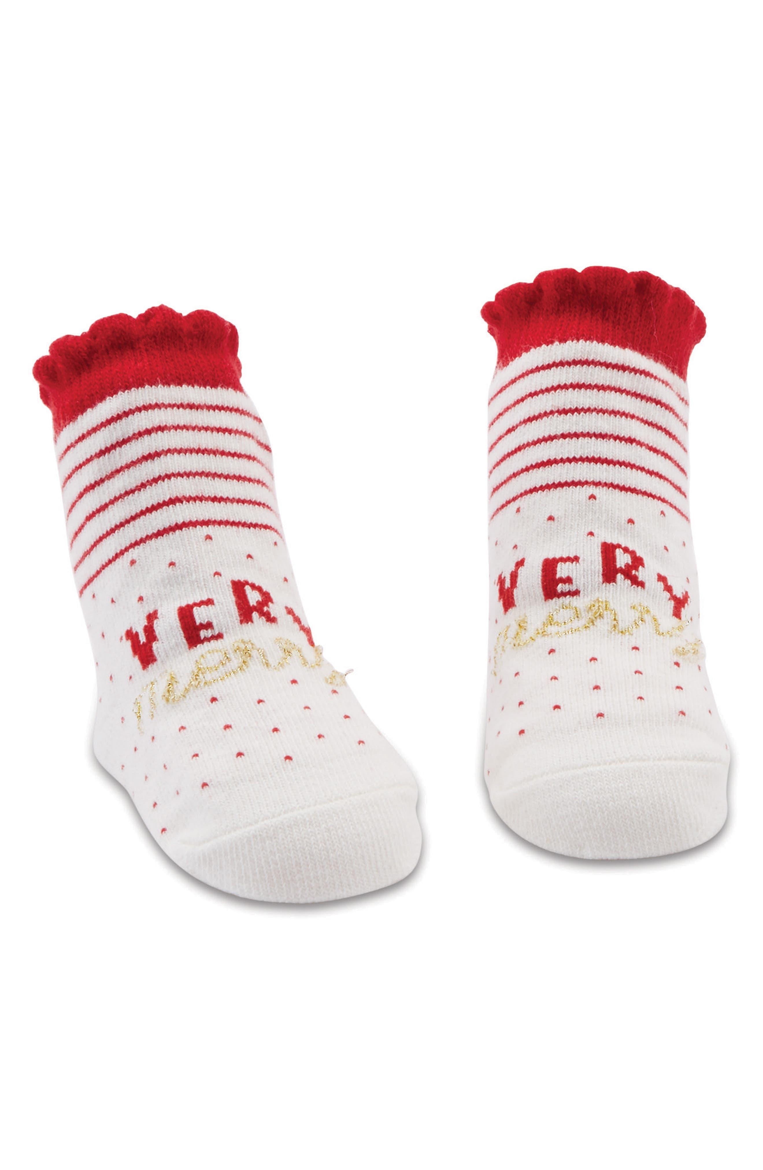 Main Image - Mud Pie Very Merry Socks (Baby)