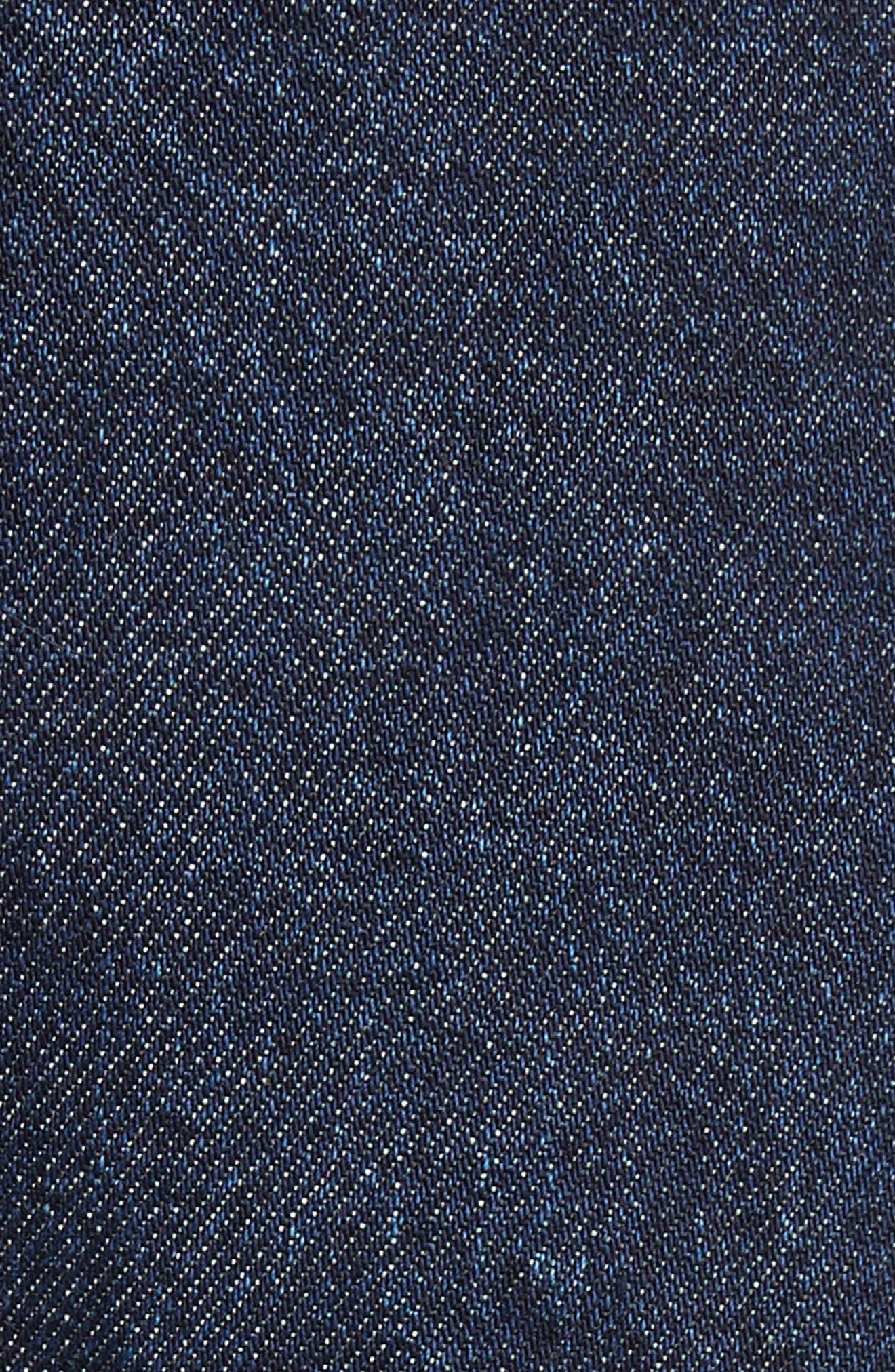 Marques'Almeida Frill Flare Crop Jeans,                             Alternate thumbnail 7, color,                             Indigo