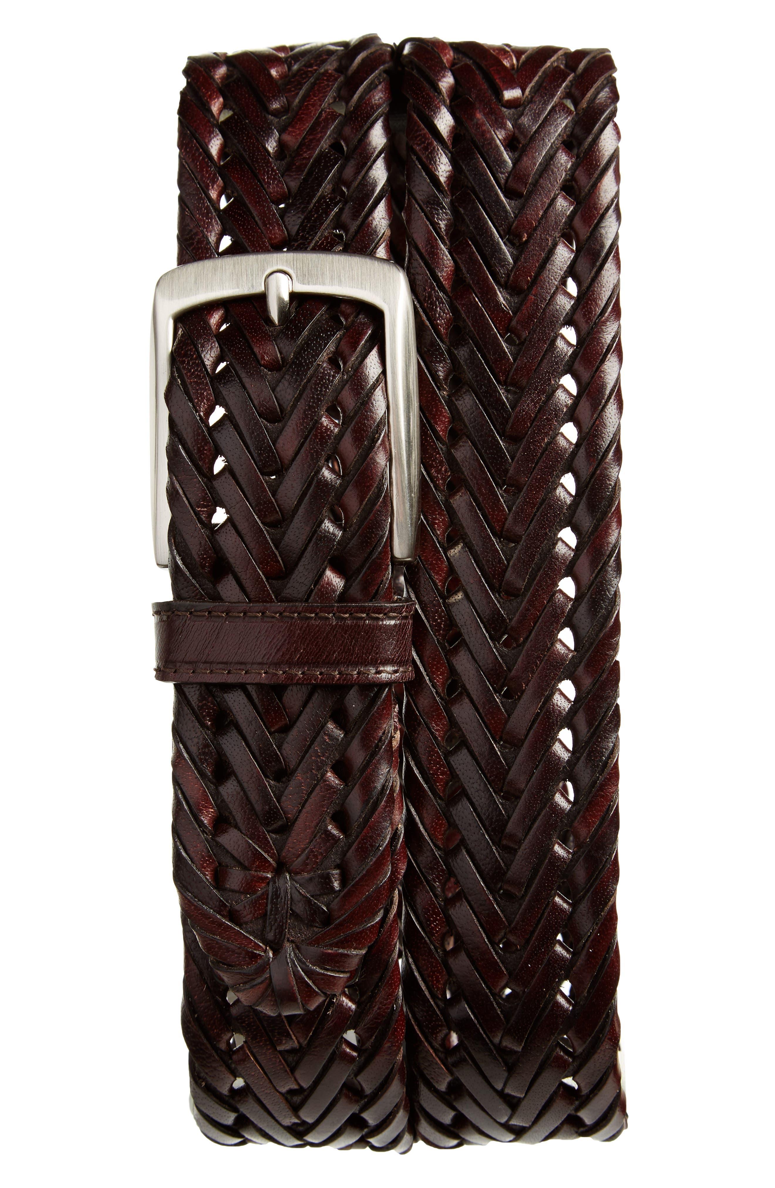 Main Image - Trafalgar Enzo Braided Leather Belt