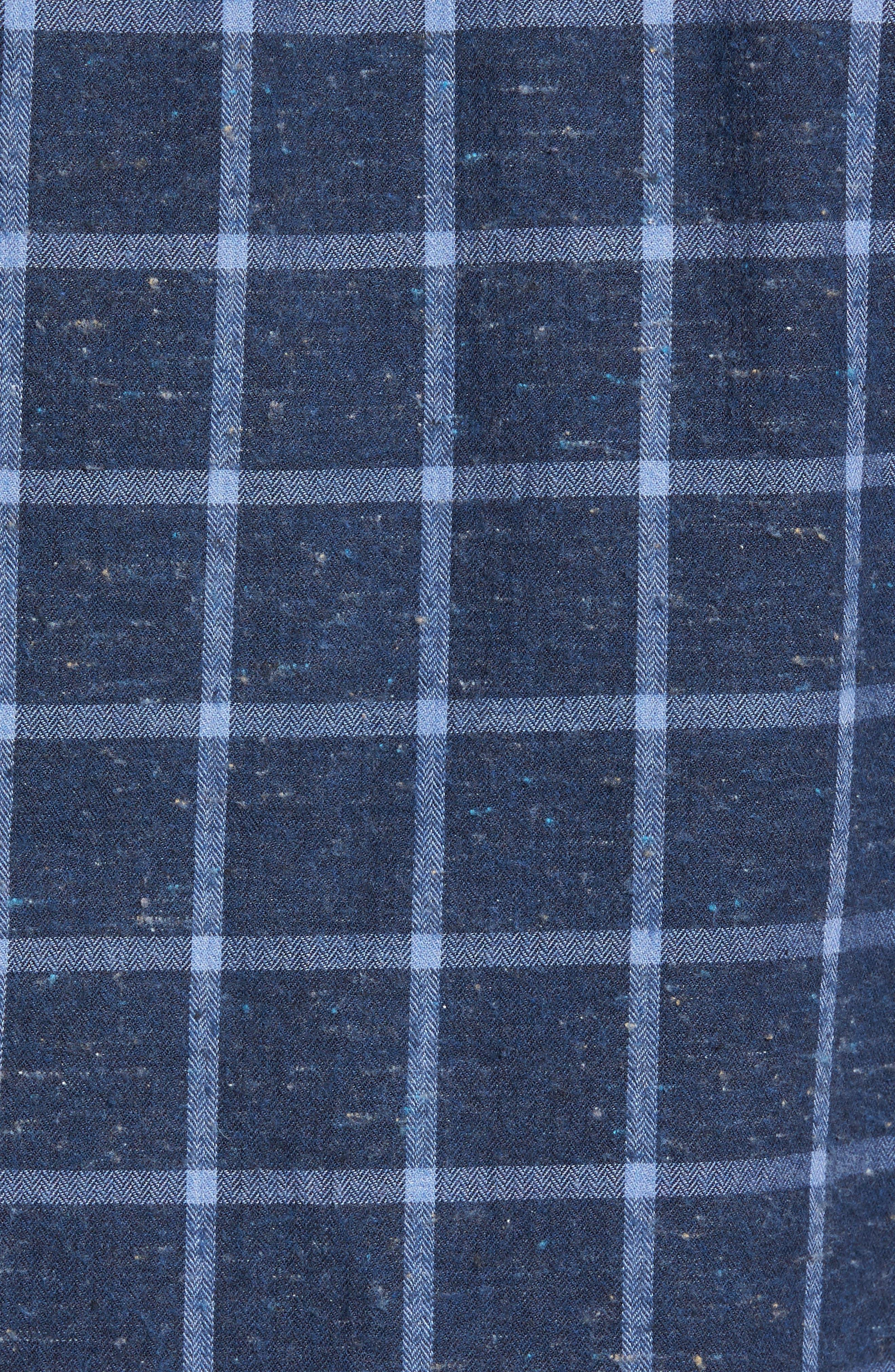 Paringa Sports Fit Windowpane Sport Shirt,                             Alternate thumbnail 5, color,                             Bluestone