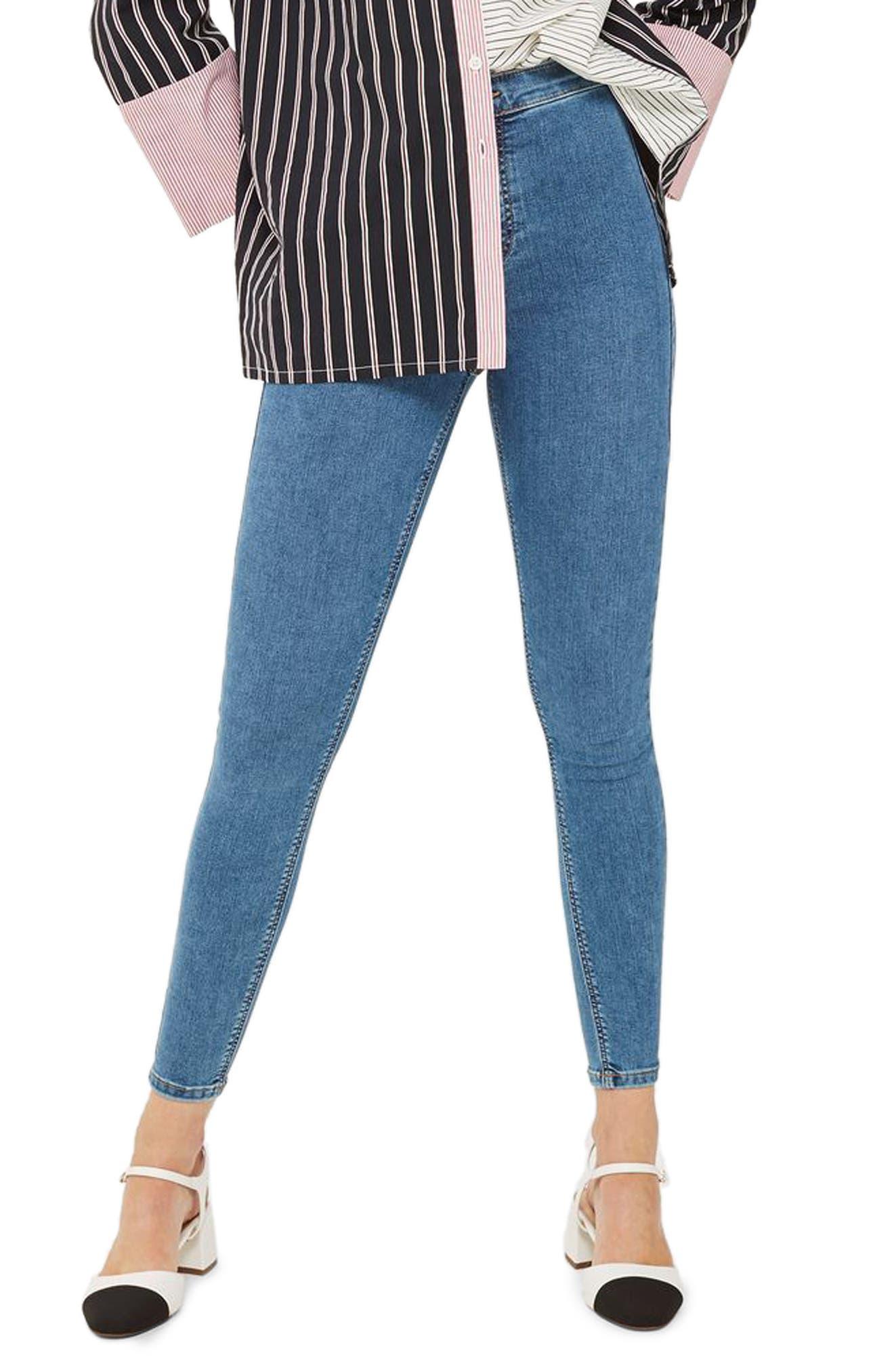 Joni High Waist Skinny Jeans,                         Main,                         color, Mid Denim