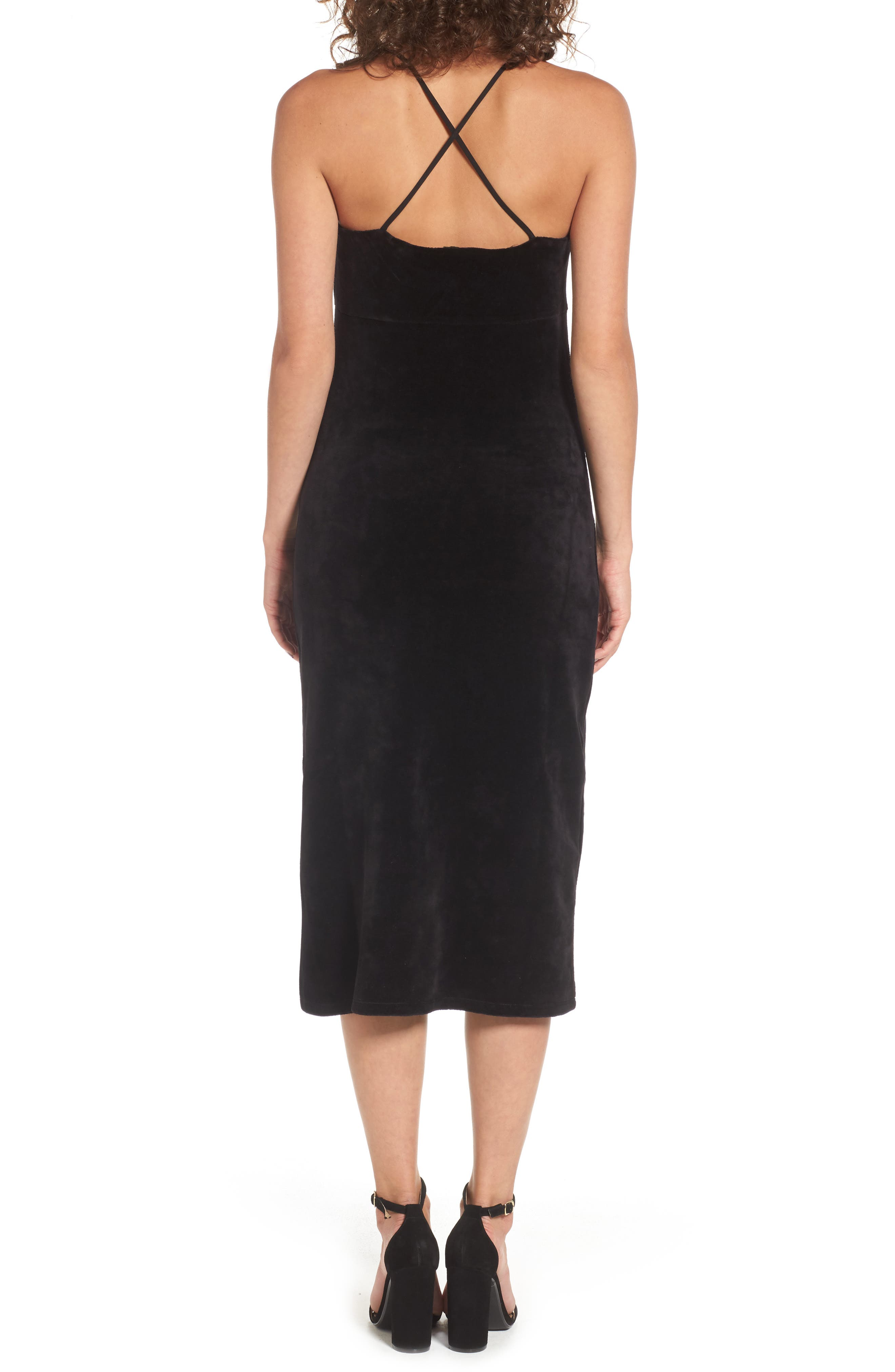 Alternate Image 2  - Juicy Couture Stretch Velour Slipdress