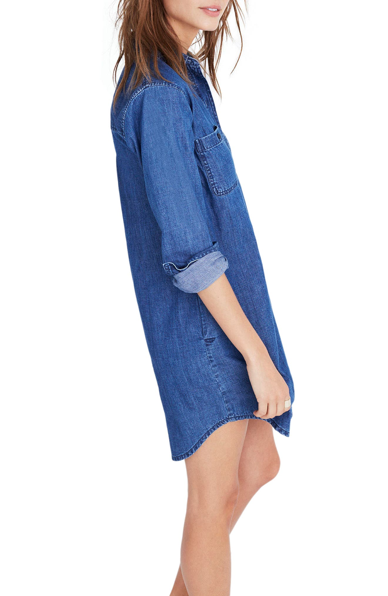 Alternate Image 3  - Madewell Denim Popover Shirtdress