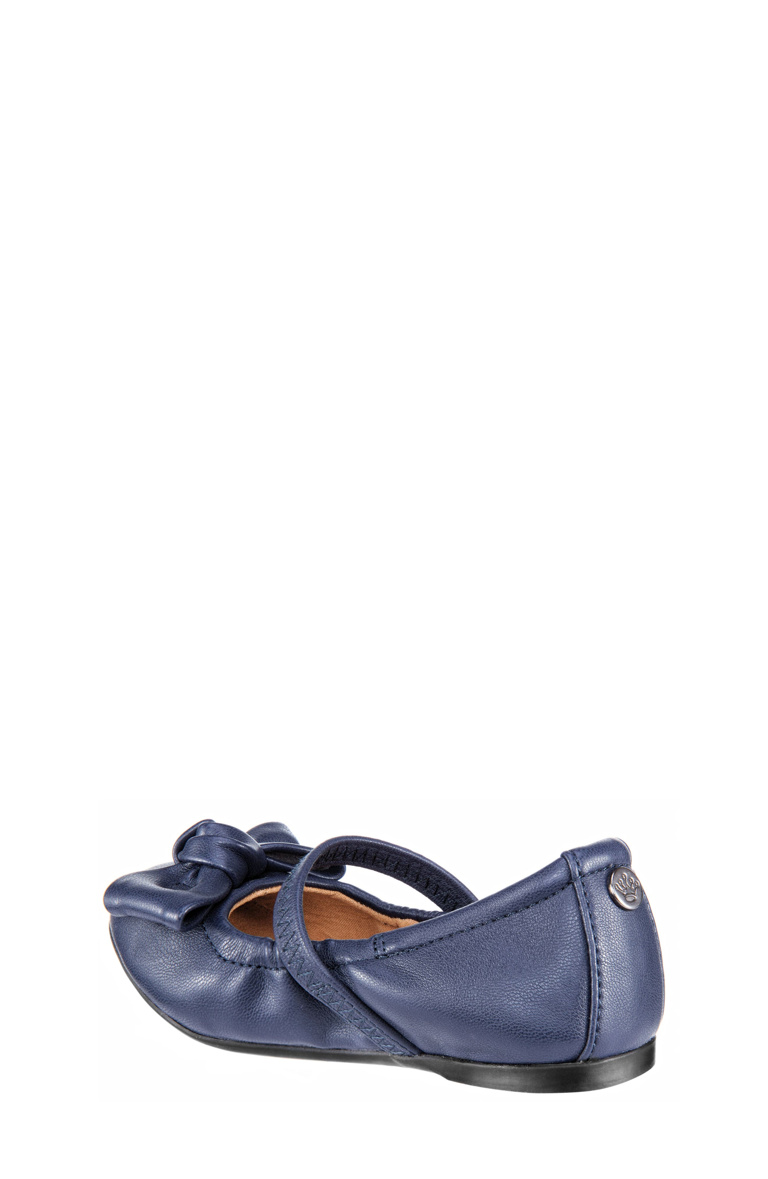 Karla Bow Ballet Flat,                             Alternate thumbnail 2, color,                             Navy Smooth Blue