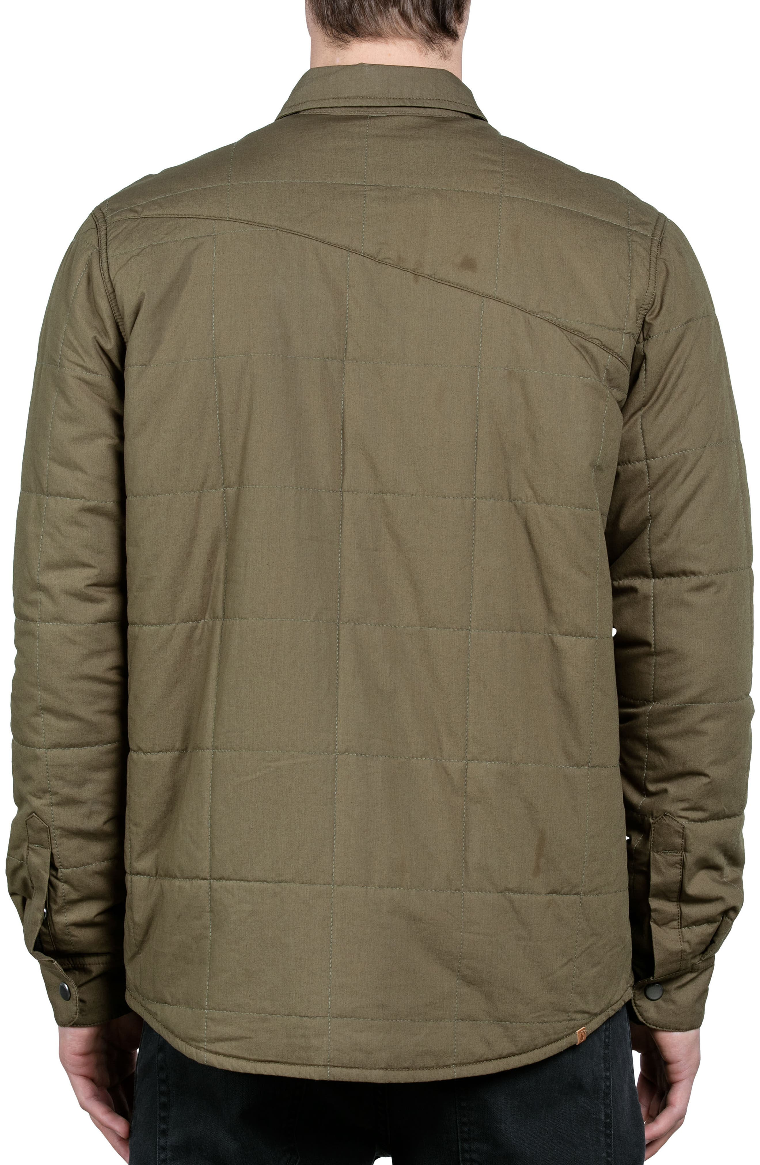 Larkin Quilted Shirt Jacket,                             Alternate thumbnail 2, color,                             Green
