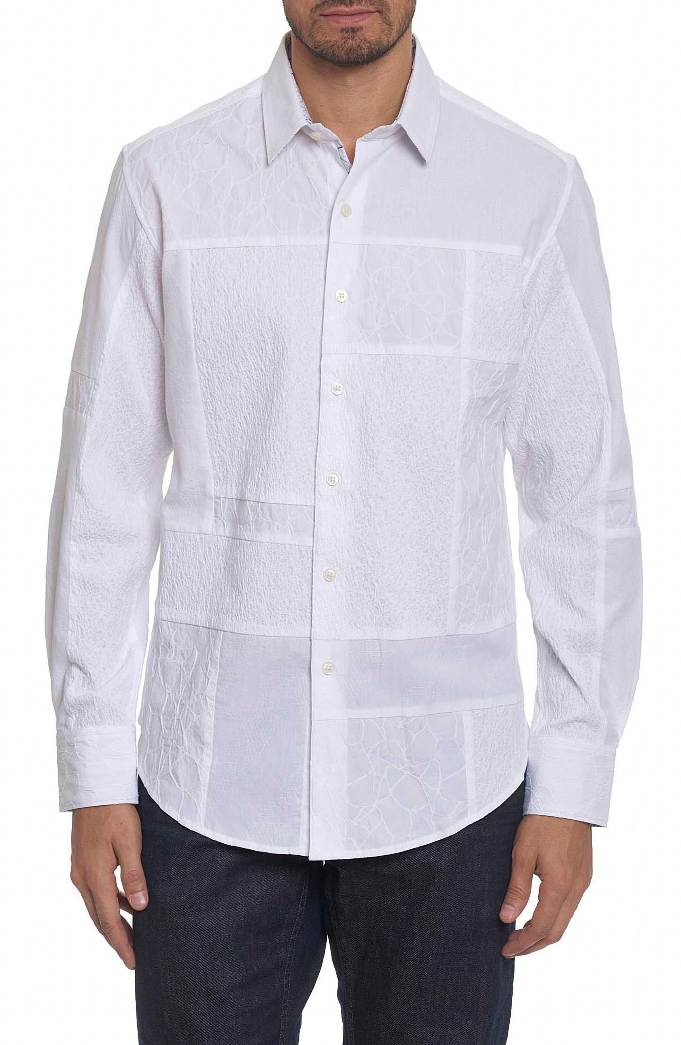 Duke Classic Fit Sport Shirt,                             Main thumbnail 1, color,                             White