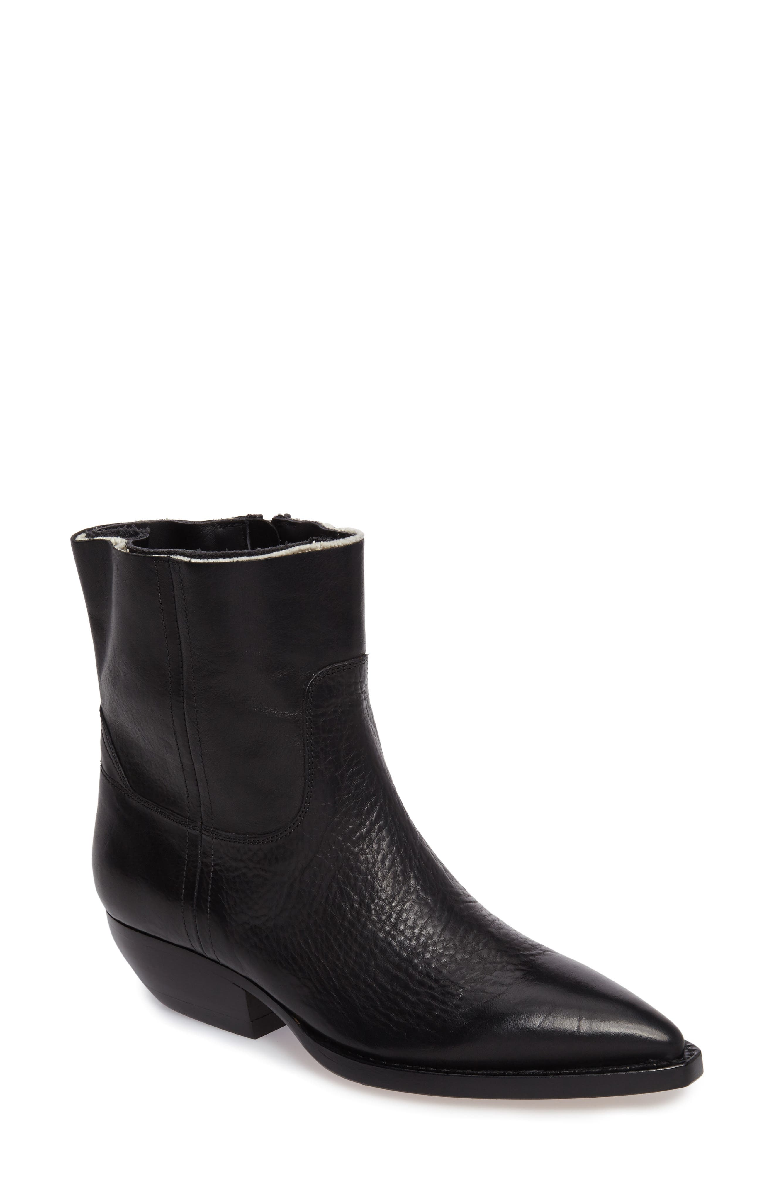 Theo Eli Western Bootie,                             Main thumbnail 1, color,                             Black
