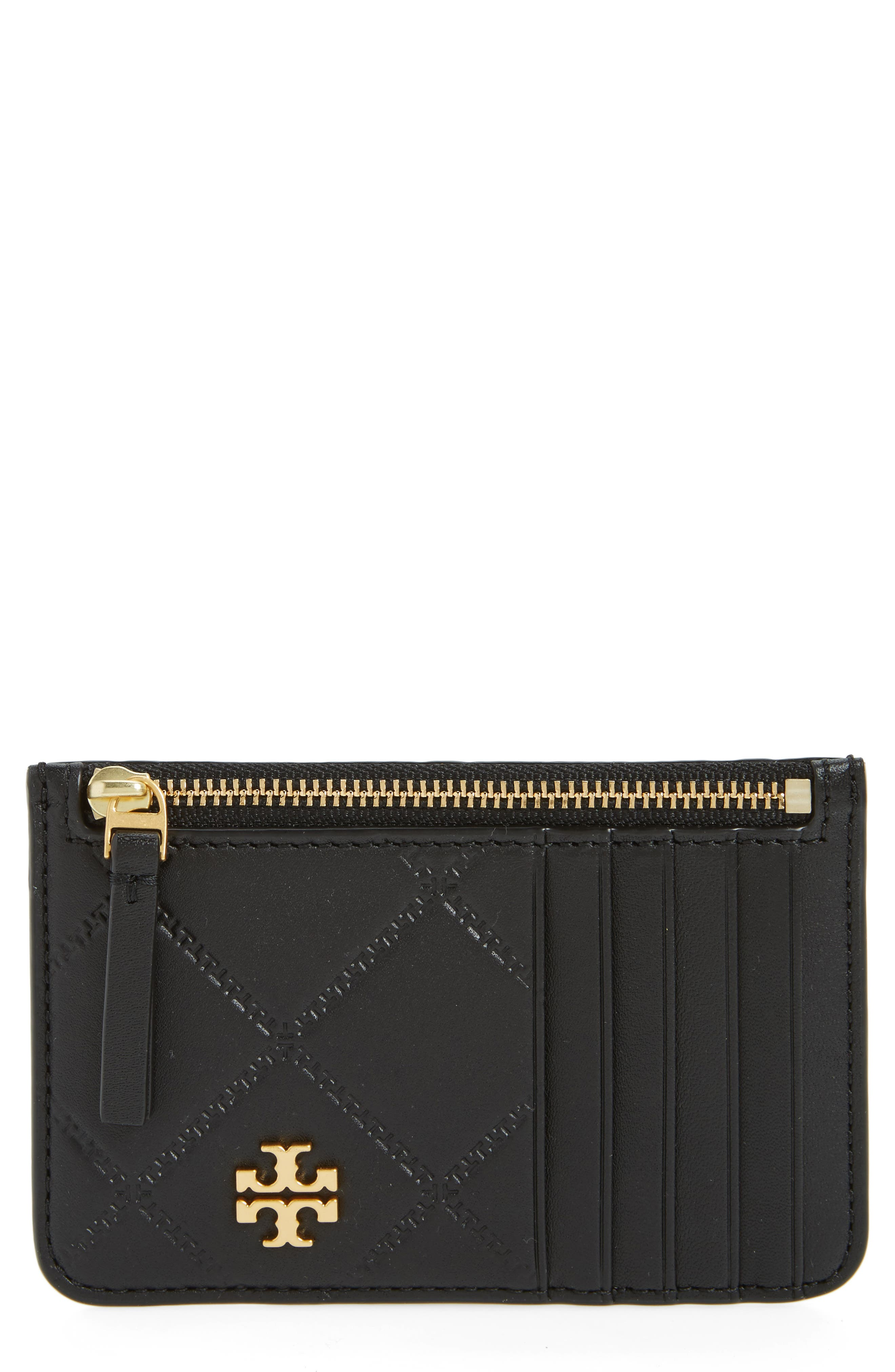 Main Image - Tory Burch Georgia Leather Card Case