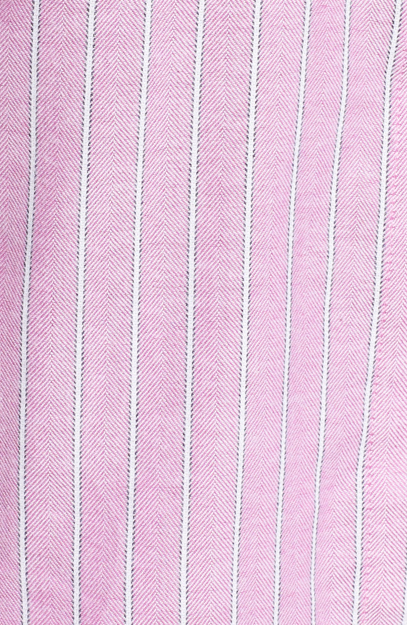 Long Pajamas,                             Alternate thumbnail 6, color,                             Pink/ White Stripe