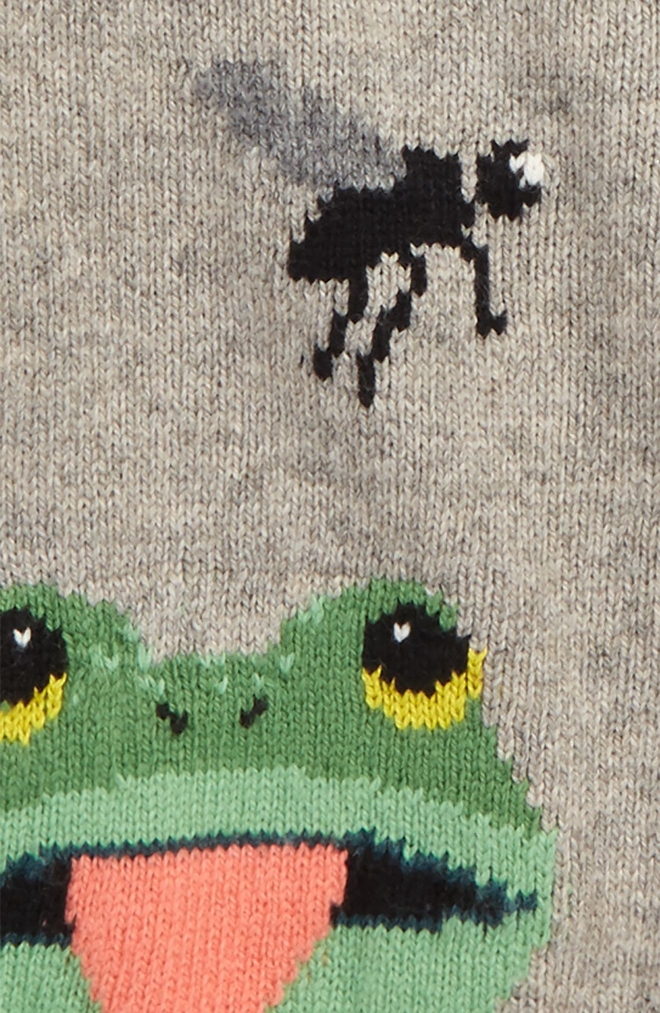 Wild Adventure Intarsia Sweater,                             Alternate thumbnail 2, color,                             Grey Marl Frog