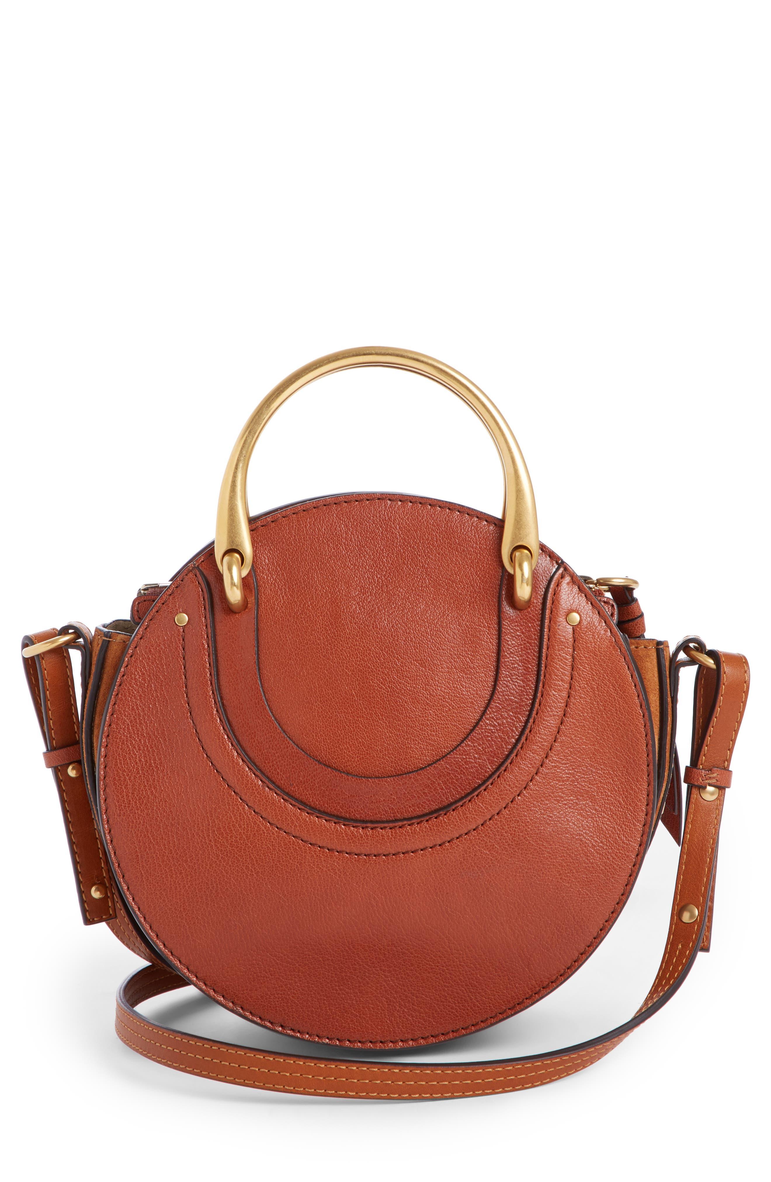Pixie Leather Crossbody Bag,                             Alternate thumbnail 2, color,                             Saffron Red