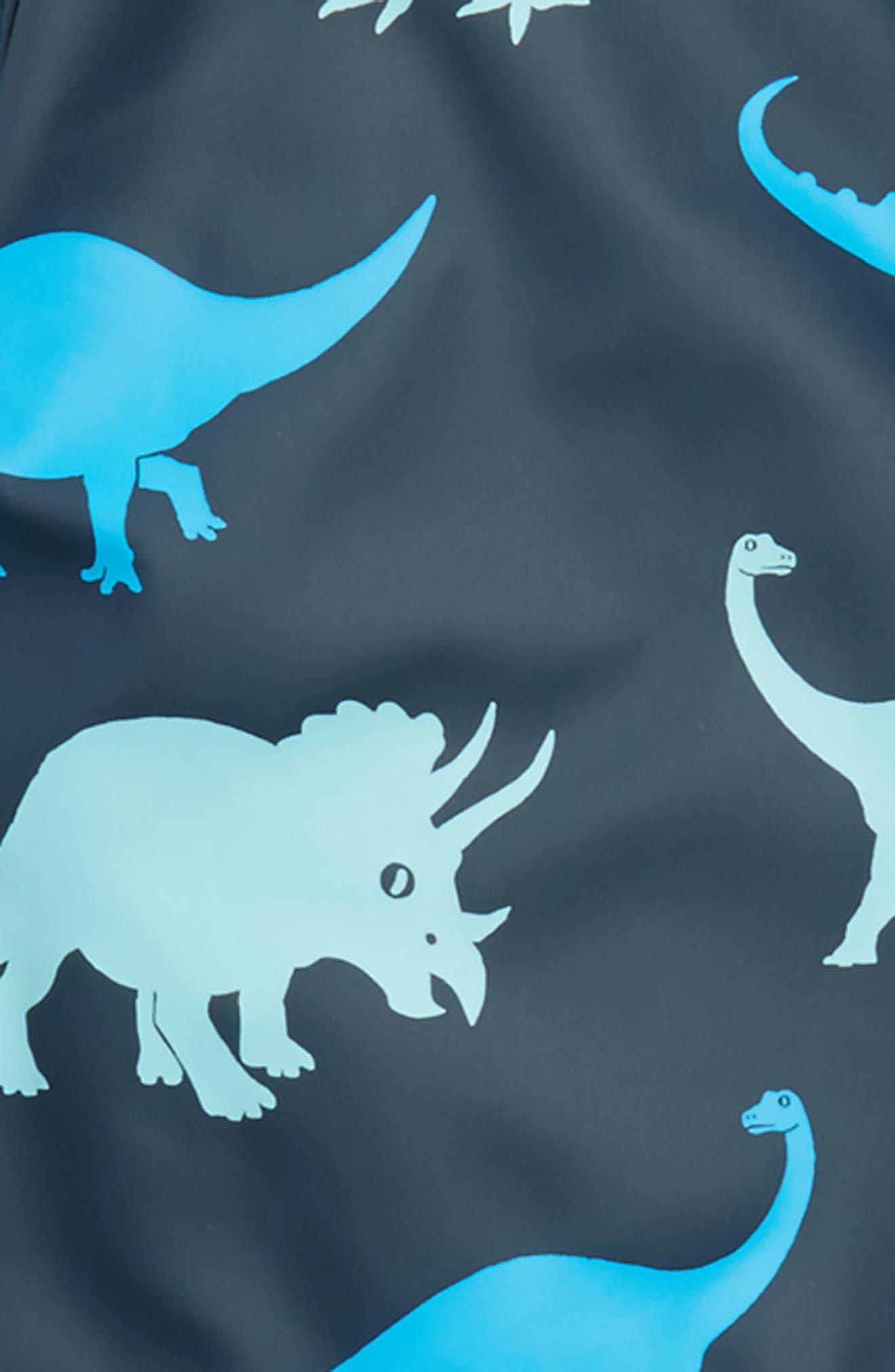 Dino Shadows Print Raincoat,                             Alternate thumbnail 3, color,                             Blue