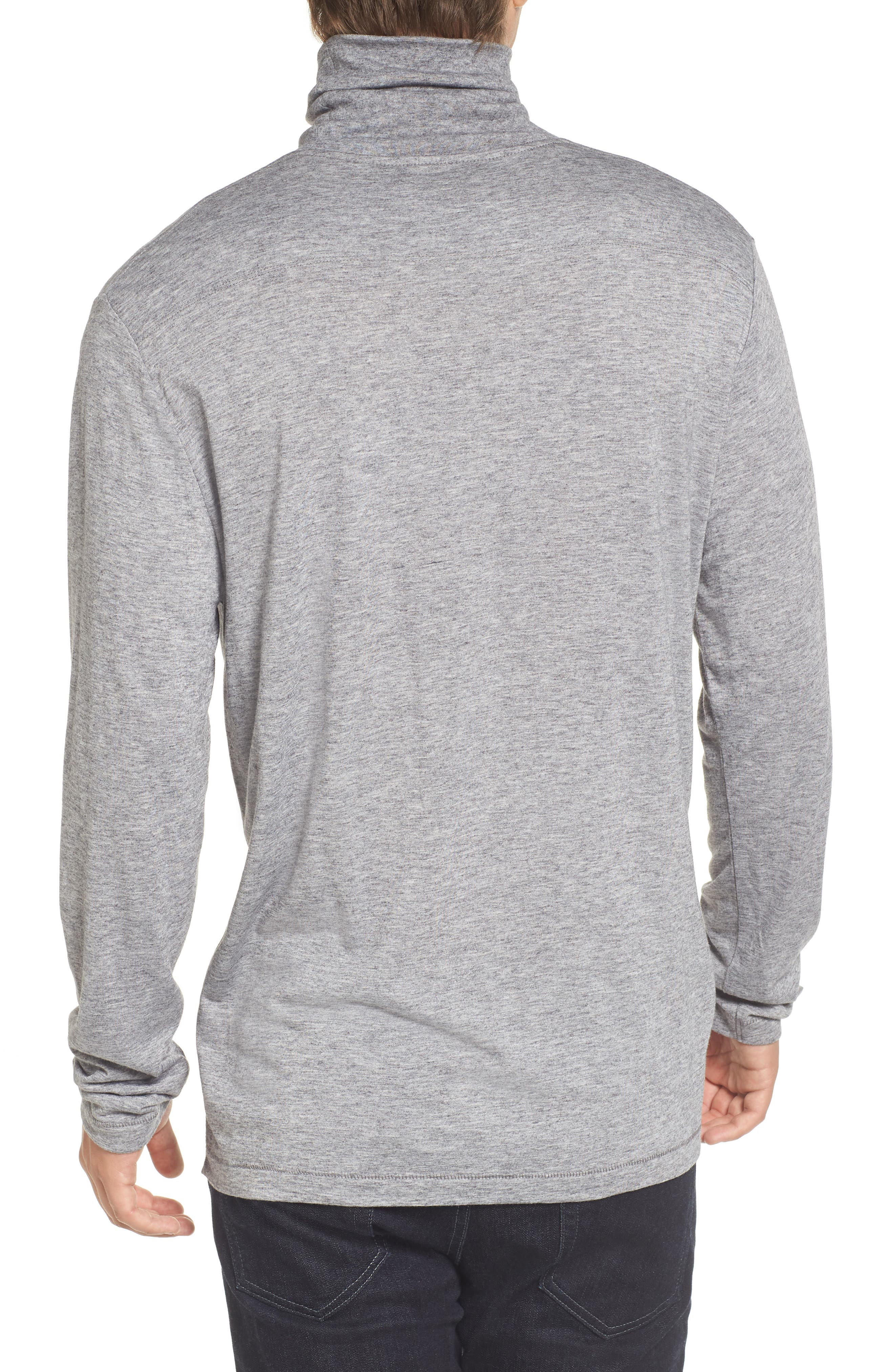 Lightweight Turtleneck Sweater,                             Alternate thumbnail 2, color,                             Grey Melange
