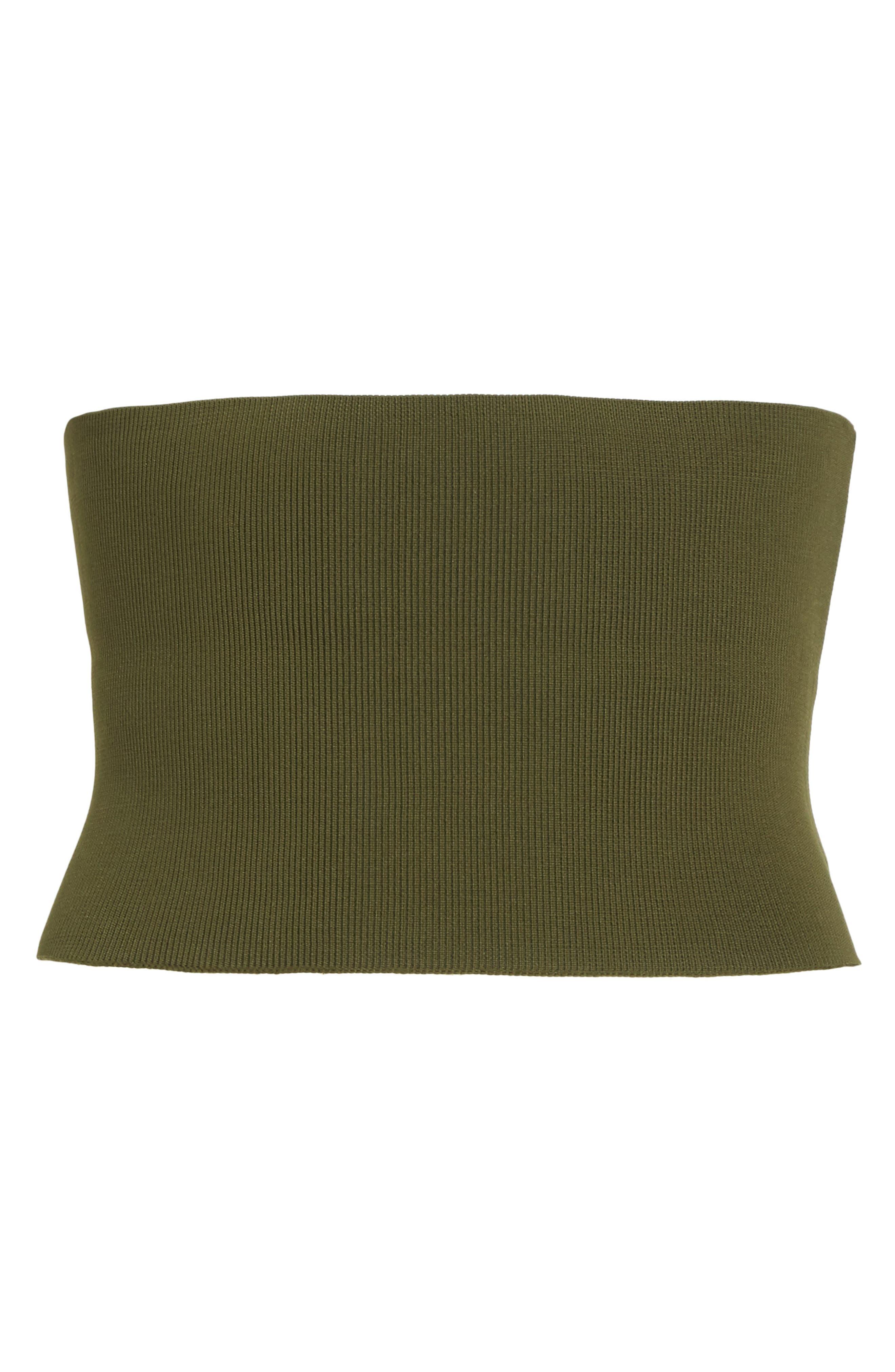 Lace-Up Knit Corset,                             Alternate thumbnail 6, color,                             Loden
