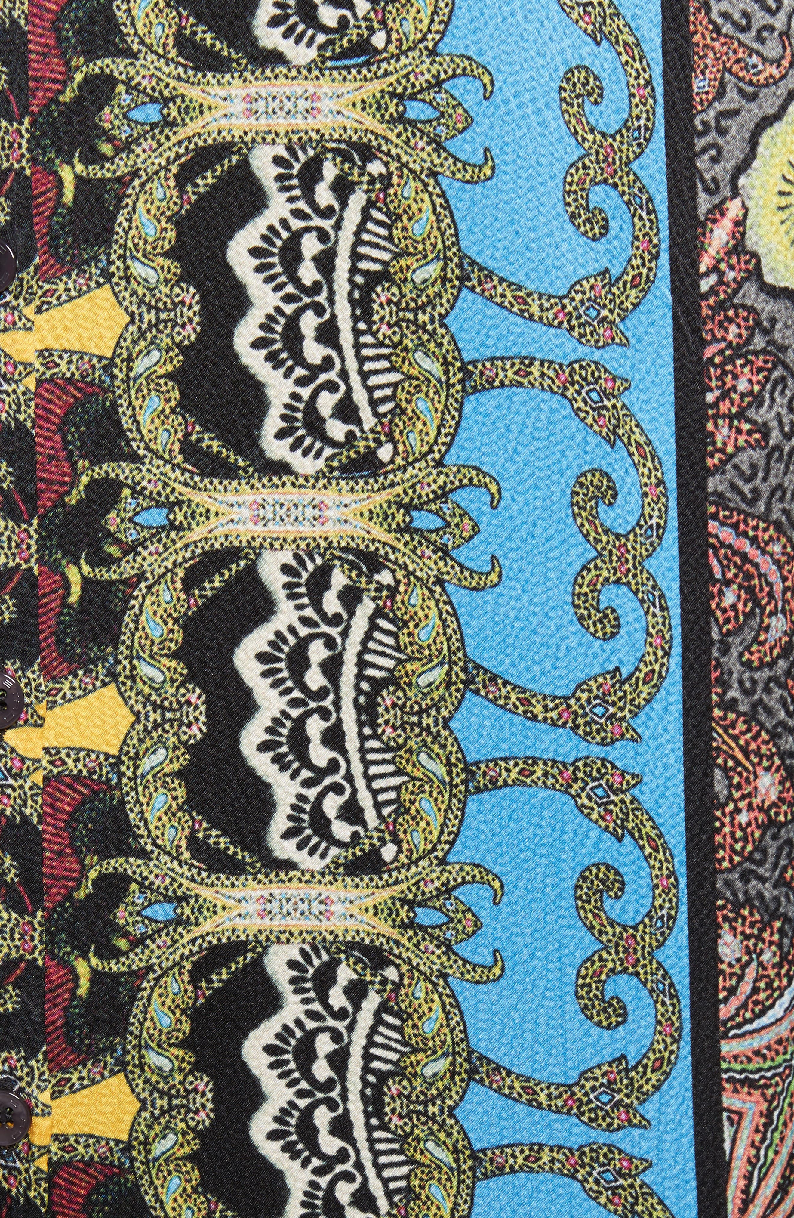 Print Hammered Silk Shirt,                             Alternate thumbnail 5, color,                             Multi